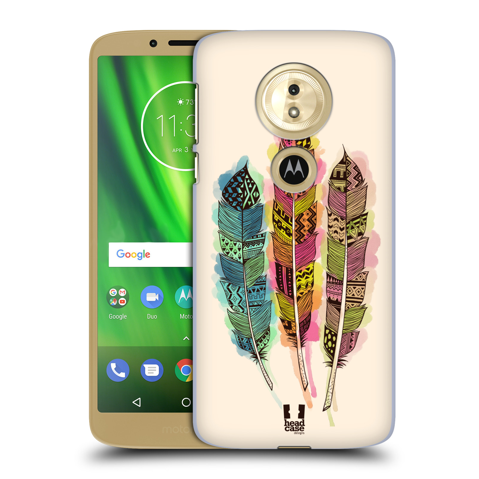 Plastové pouzdro na mobil Motorola Moto G6 Play - Head Case - AZTEC PÍRKA SPLASH