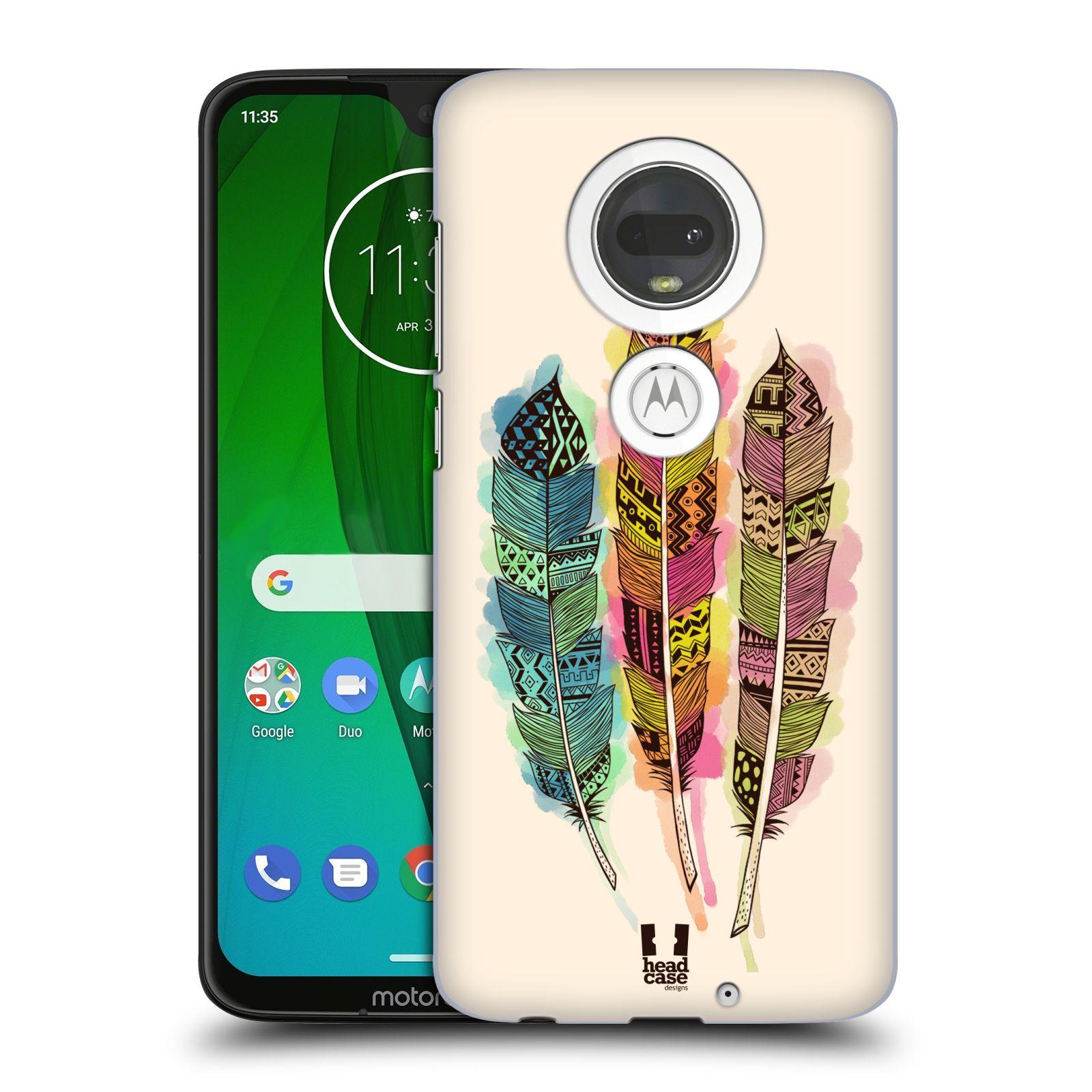 Plastové pouzdro na mobil Motorola Moto G7 - Head Case - AZTEC PÍRKA SPLASH