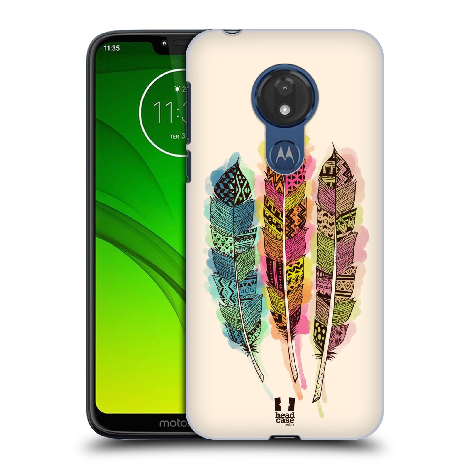 Plastové pouzdro na mobil Motorola Moto G7 Power - Head Case - AZTEC PÍRKA SPLASH