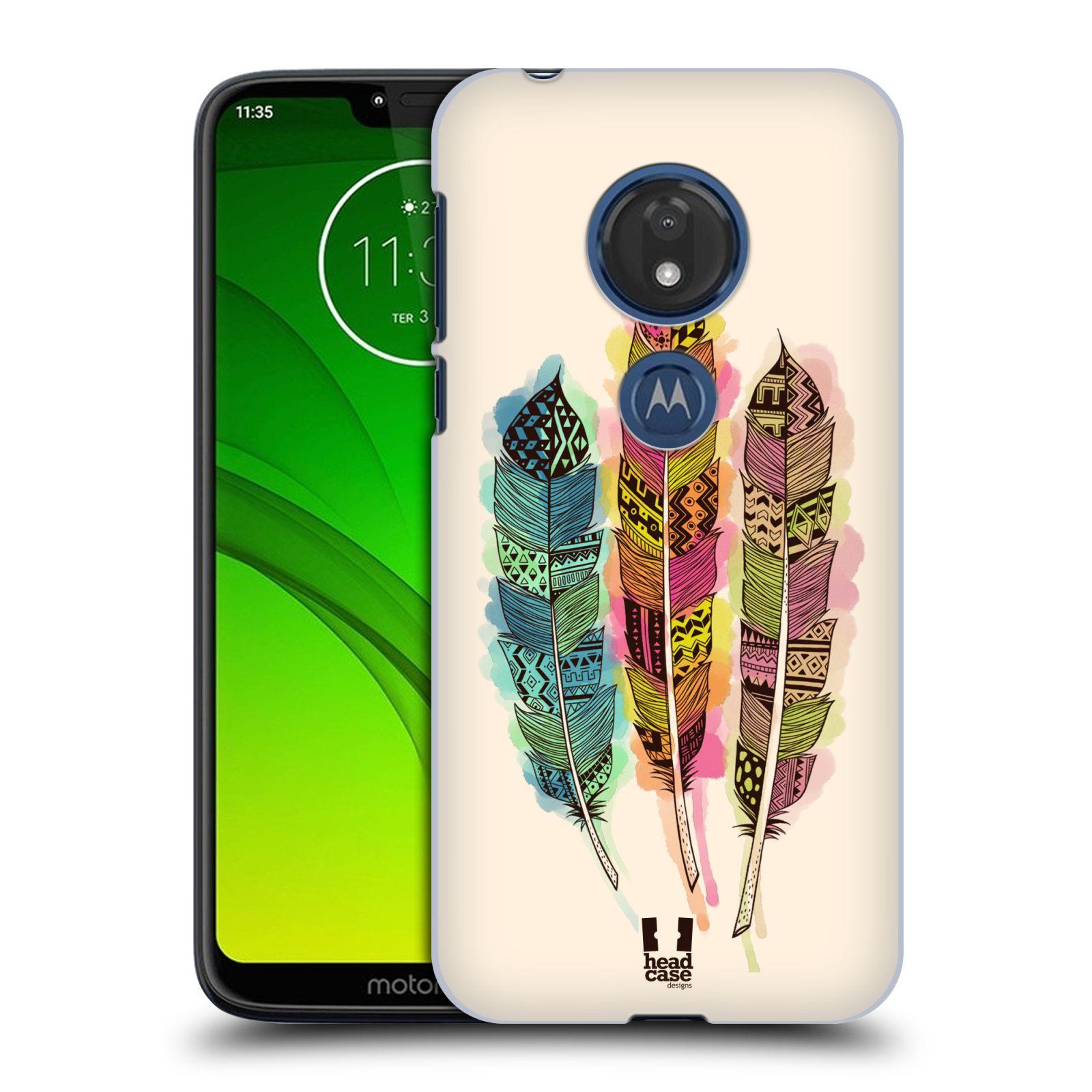 Plastové pouzdro na mobil Motorola Moto G7 Play - Head Case - AZTEC PÍRKA SPLASH