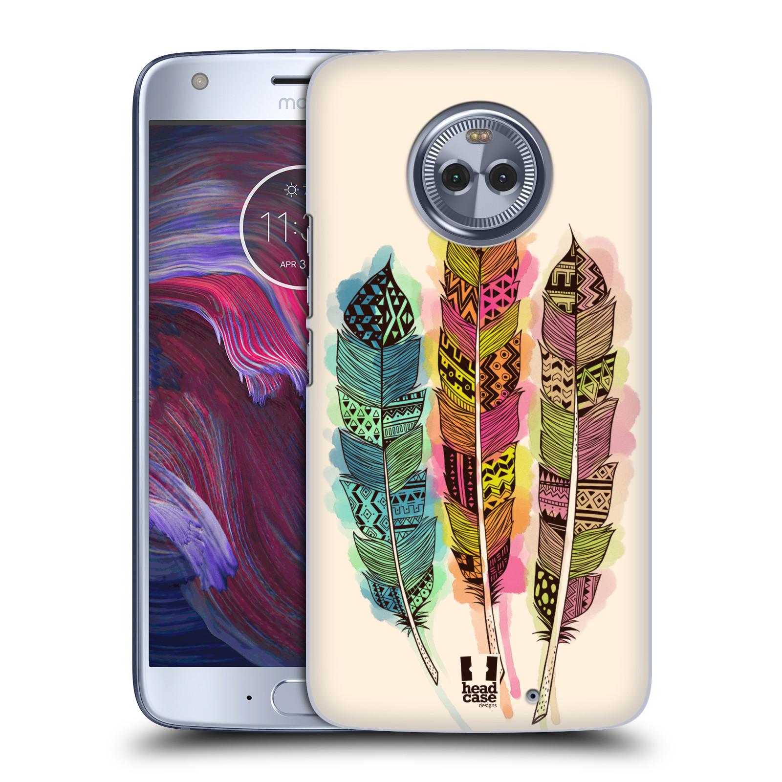 Plastové pouzdro na mobil Lenovo Moto X4 - Head Case - AZTEC PÍRKA SPLASH