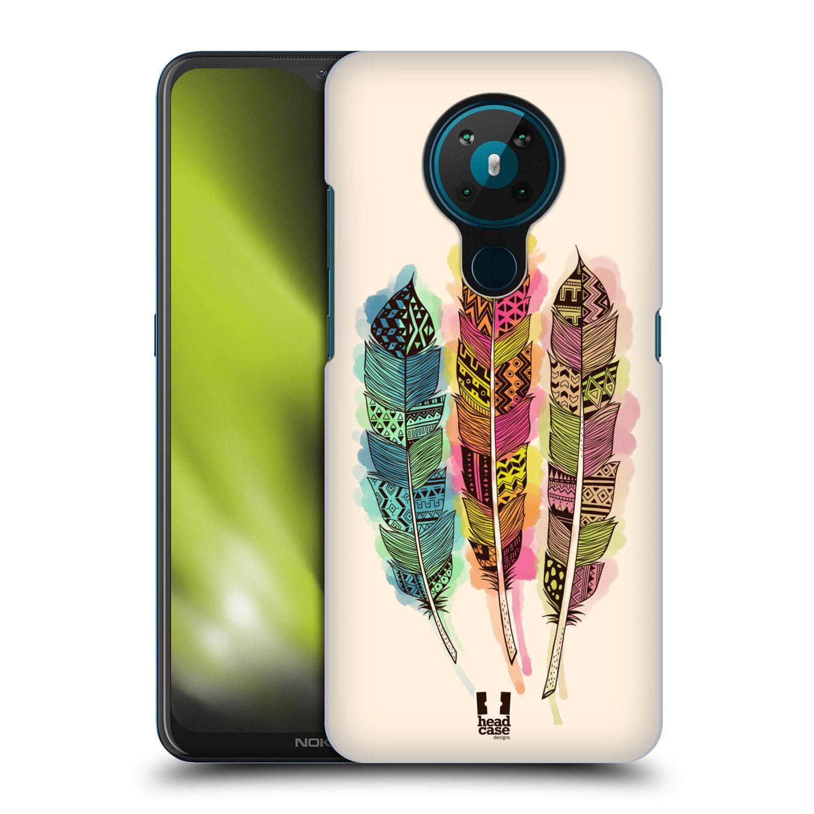 Plastové pouzdro na mobil Nokia 5.3 - Head Case - AZTEC PÍRKA SPLASH
