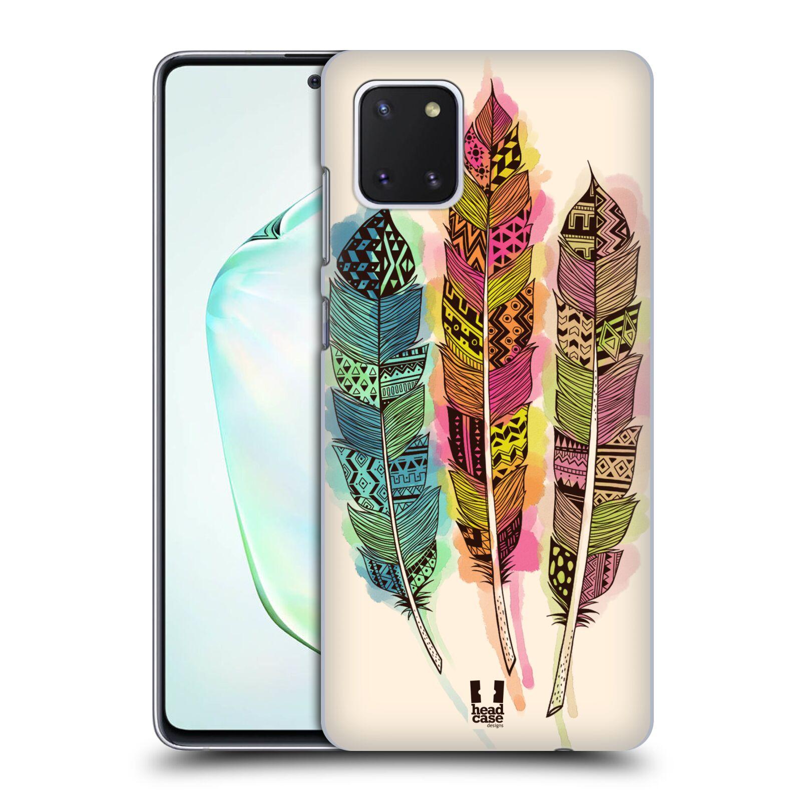 Plastové pouzdro na mobil Samsung Galaxy Note 10 Lite - Head Case - AZTEC PÍRKA SPLASH