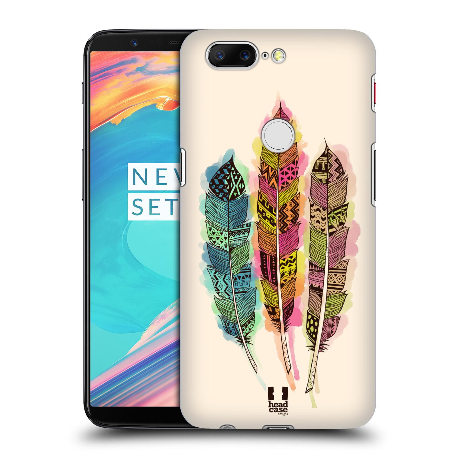 Plastové pouzdro na mobil OnePlus 5T - Head Case - AZTEC PÍRKA SPLASH