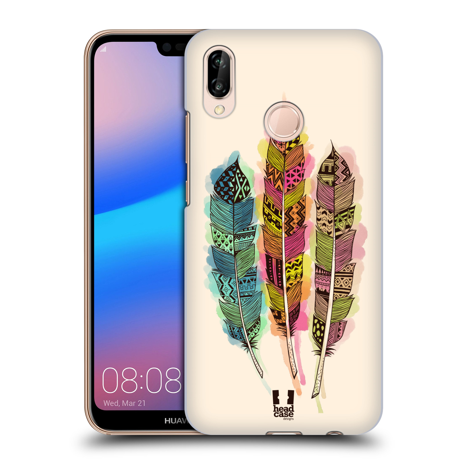 Plastové pouzdro na mobil Huawei P20 Lite - Head Case - AZTEC PÍRKA SPLASH