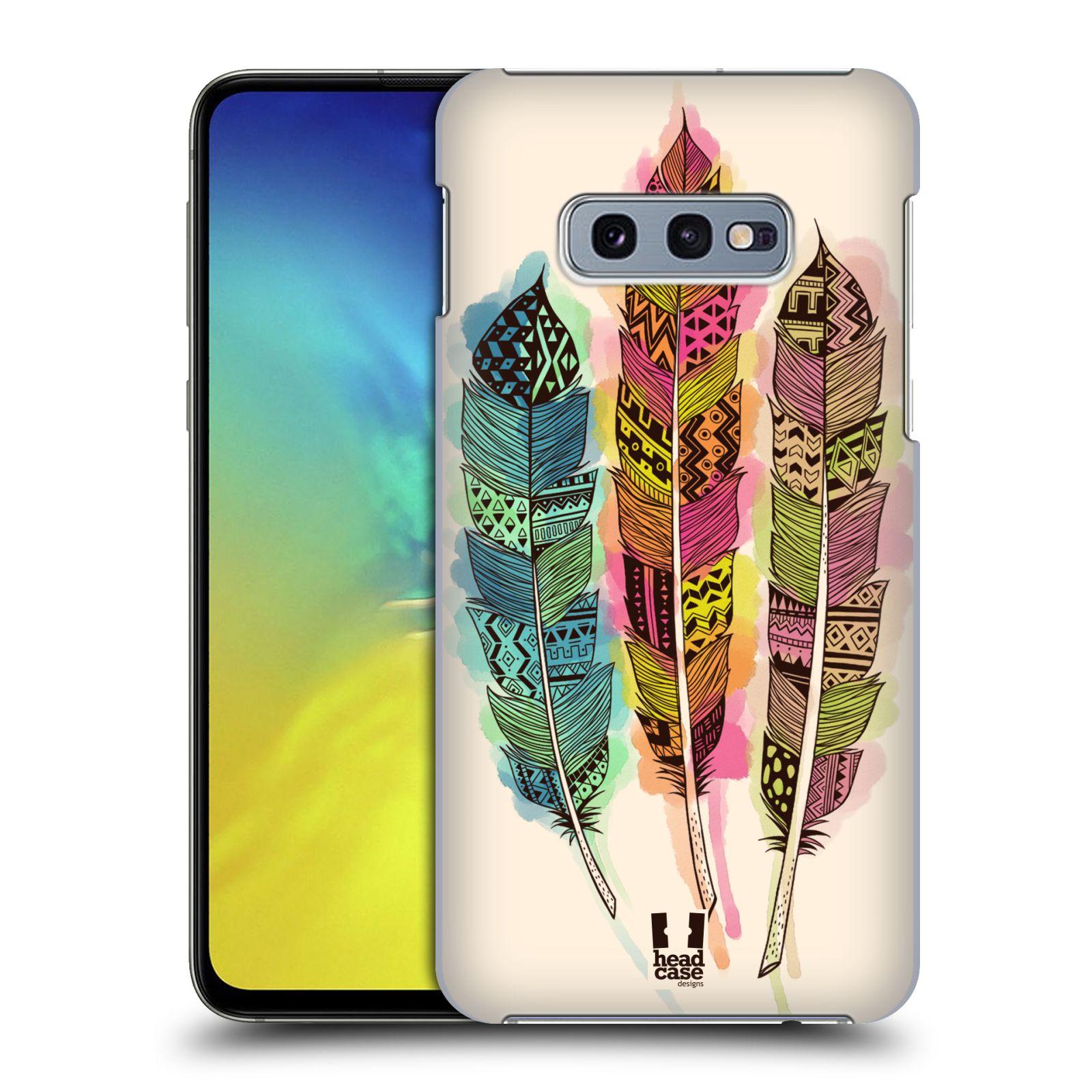 Plastové pouzdro na mobil Samsung Galaxy S10e - Head Case - AZTEC PÍRKA SPLASH