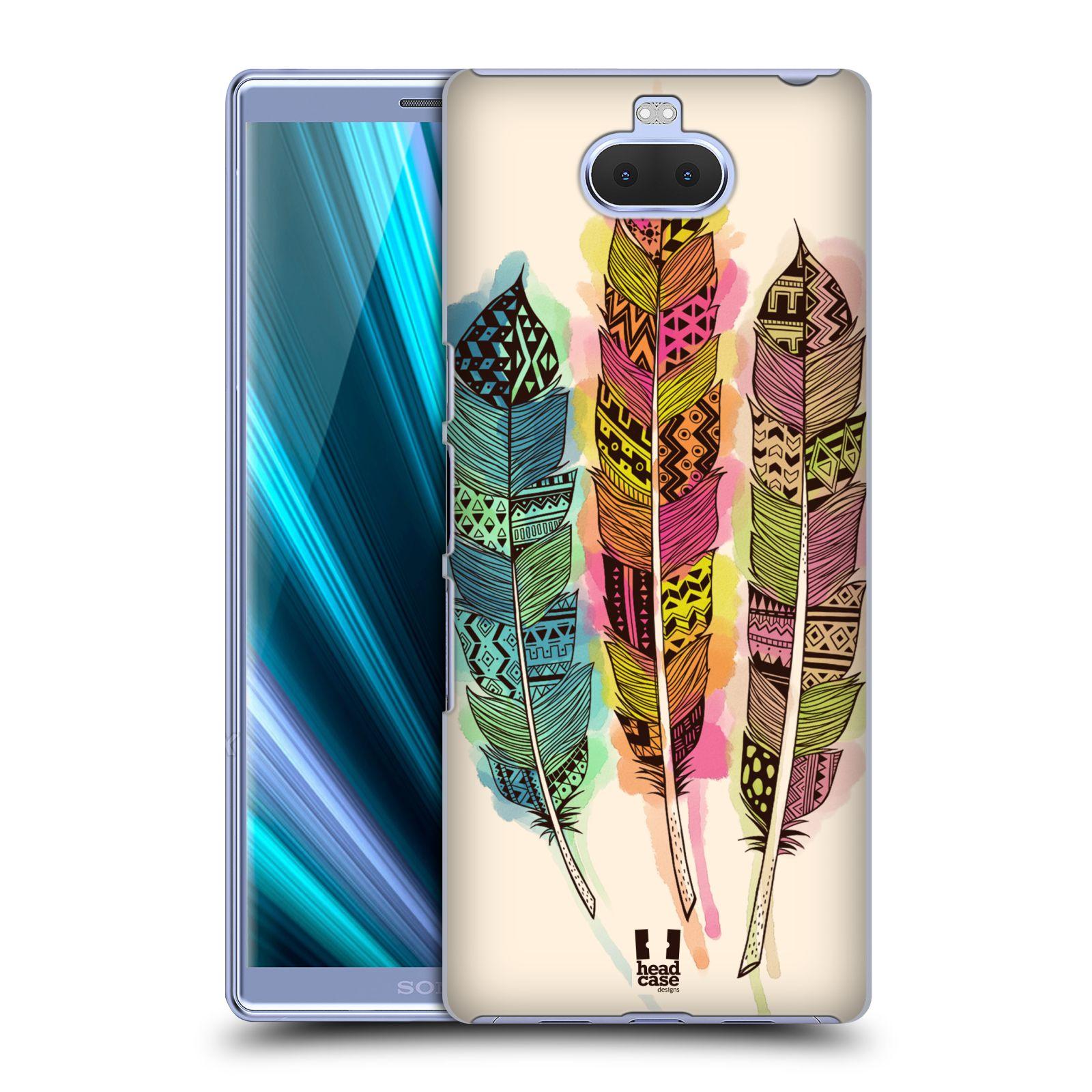 Plastové pouzdro na mobil Sony Xperia 10 Plus - Head Case - AZTEC PÍRKA SPLASH