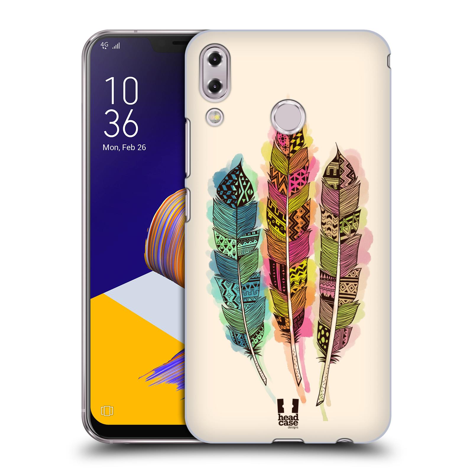Plastové pouzdro na mobil Asus Zenfone 5z ZS620KL - Head Case - AZTEC PÍRKA SPLASH