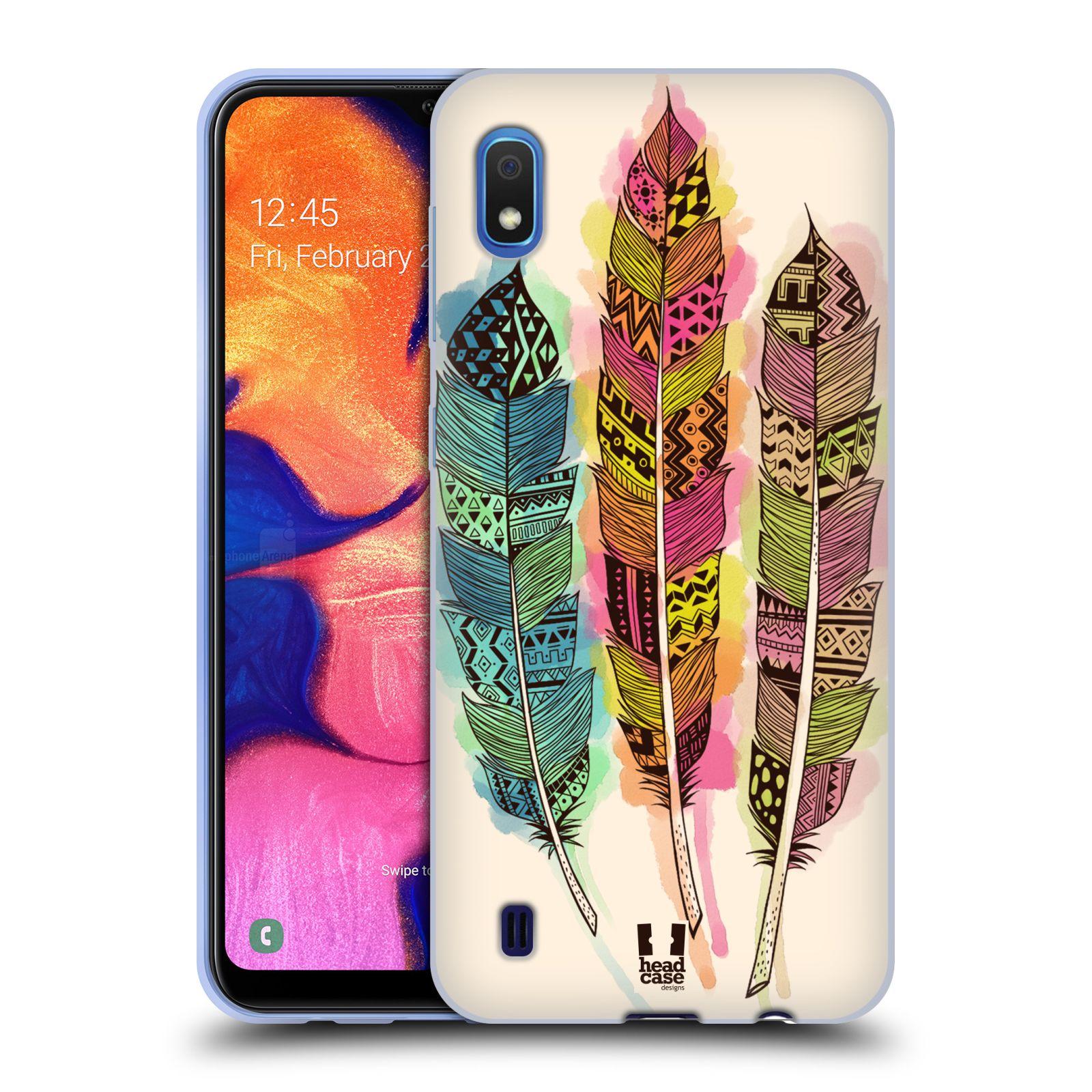 Silikonové pouzdro na mobil Samsung Galaxy A10 - Head Case - AZTEC PÍRKA SPLASH