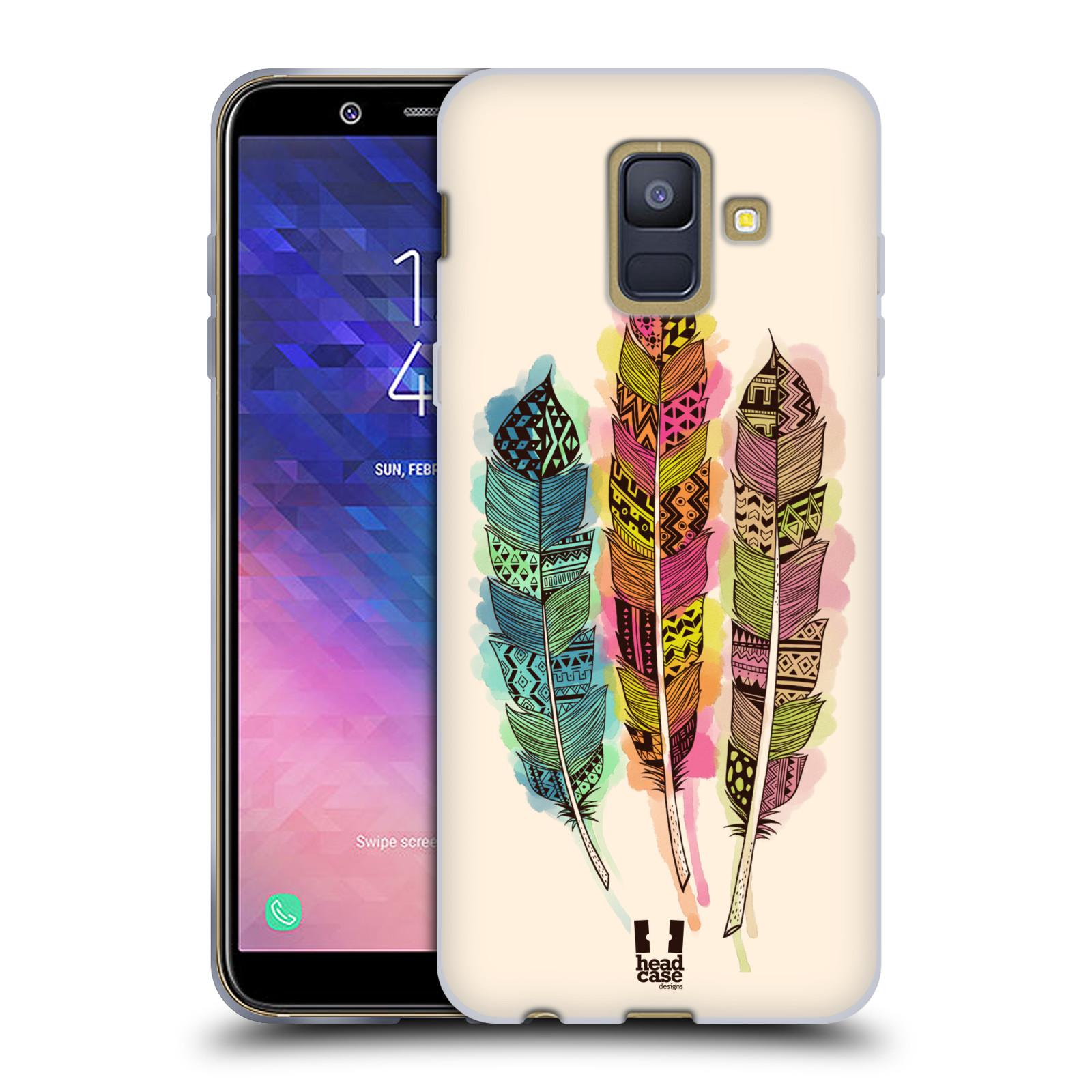 Silikonové pouzdro na mobil Samsung Galaxy A6 (2018) - Head Case - AZTEC PÍRKA SPLASH