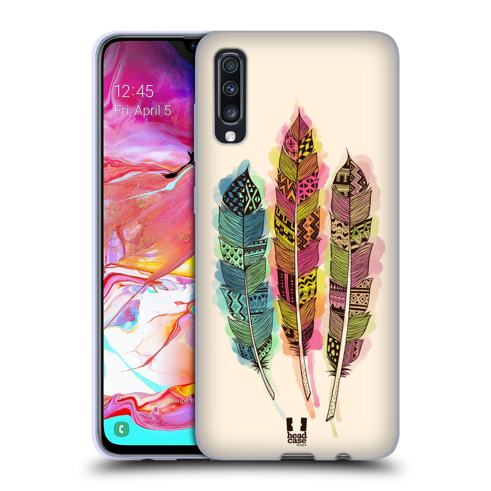 Silikonové pouzdro na mobil Samsung Galaxy A70 - Head Case - AZTEC PÍRKA SPLASH