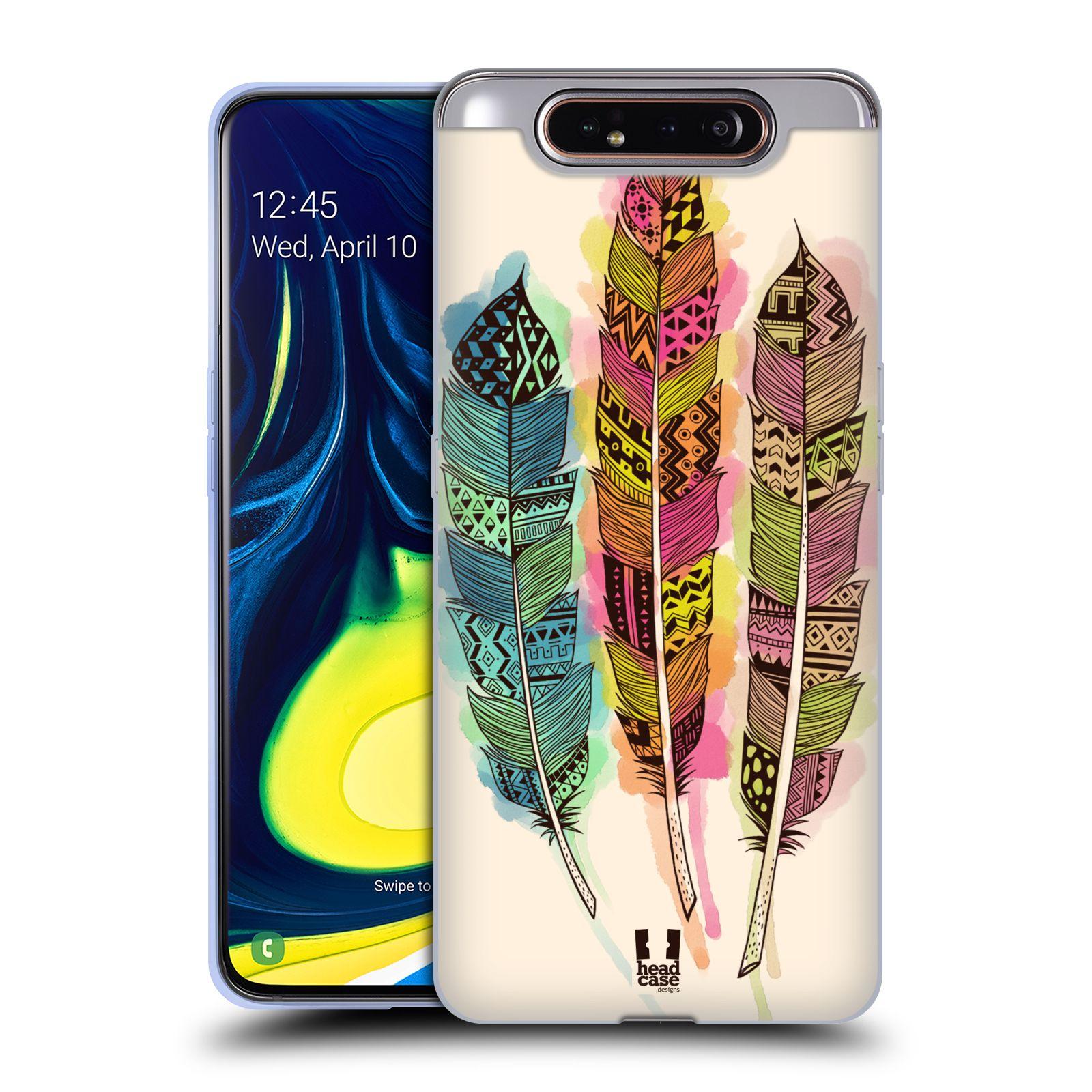 Silikonové pouzdro na mobil Samsung Galaxy A80 - Head Case - AZTEC PÍRKA SPLASH