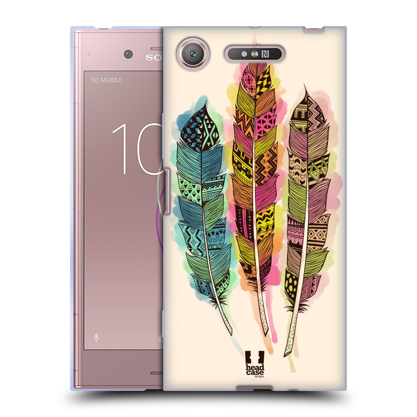 Silikonové pouzdro na mobil Sony Xperia XZ1 - Head Case - AZTEC PÍRKA SPLASH