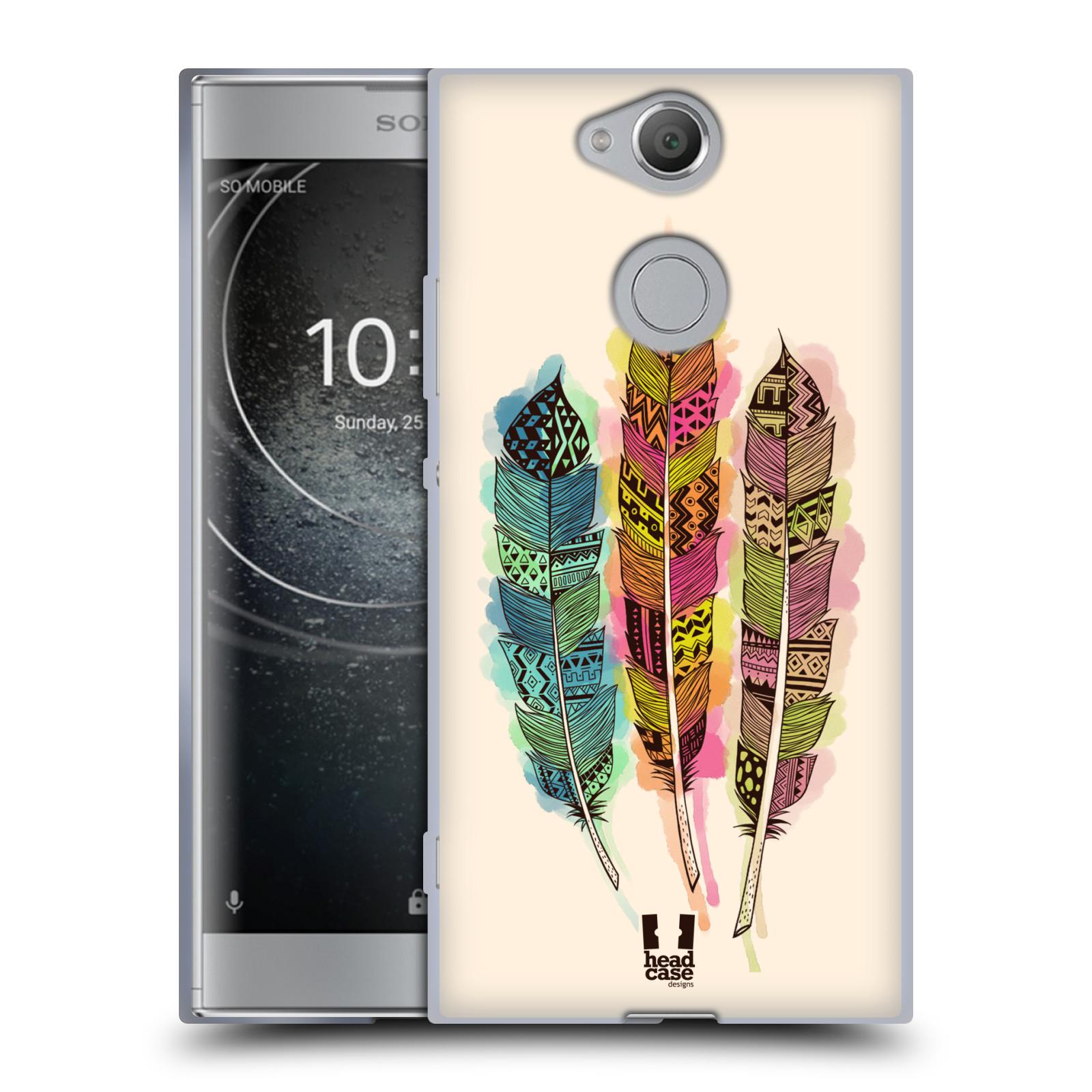 Silikonové pouzdro na mobil Sony Xperia XA2 - Head Case - AZTEC PÍRKA SPLASH