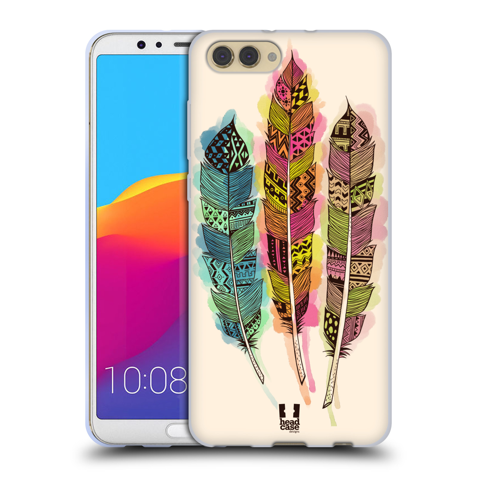 Silikonové pouzdro na mobil Honor View 10 - Head Case - AZTEC PÍRKA SPLASH