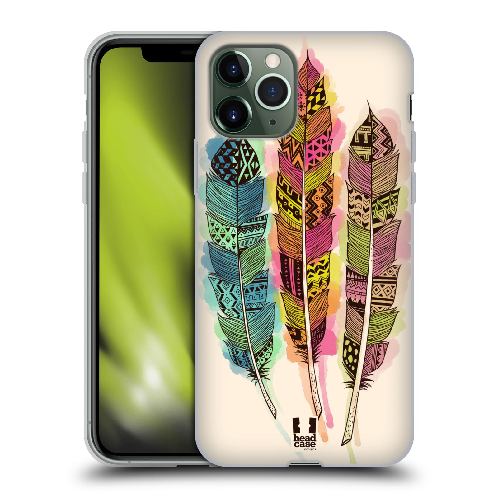 pasuje kryt z iphone x na iphone xs - Silikonové pouzdro na mobil Apple iPhone 11 Pro - Head Case - AZTEC PÍRKA SPLASH