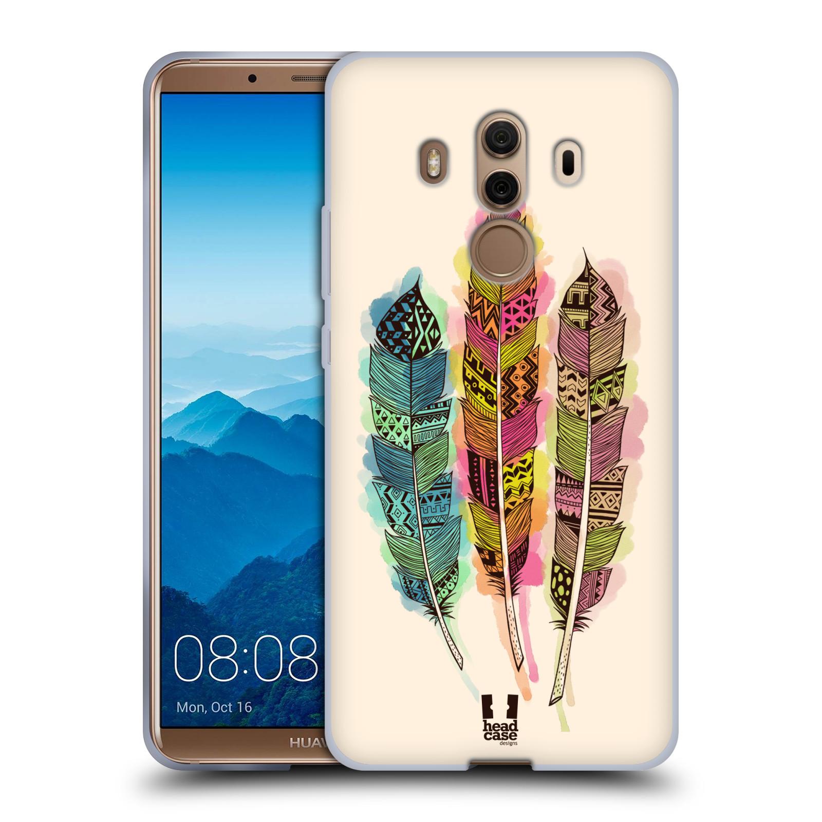 Silikonové pouzdro na mobil Huawei Mate 10 Pro - Head Case - AZTEC PÍRKA SPLASH