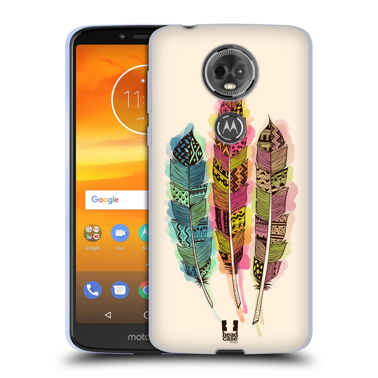 Silikonové pouzdro na mobil Motorola Moto E5 Plus - Head Case - AZTEC PÍRKA SPLASH