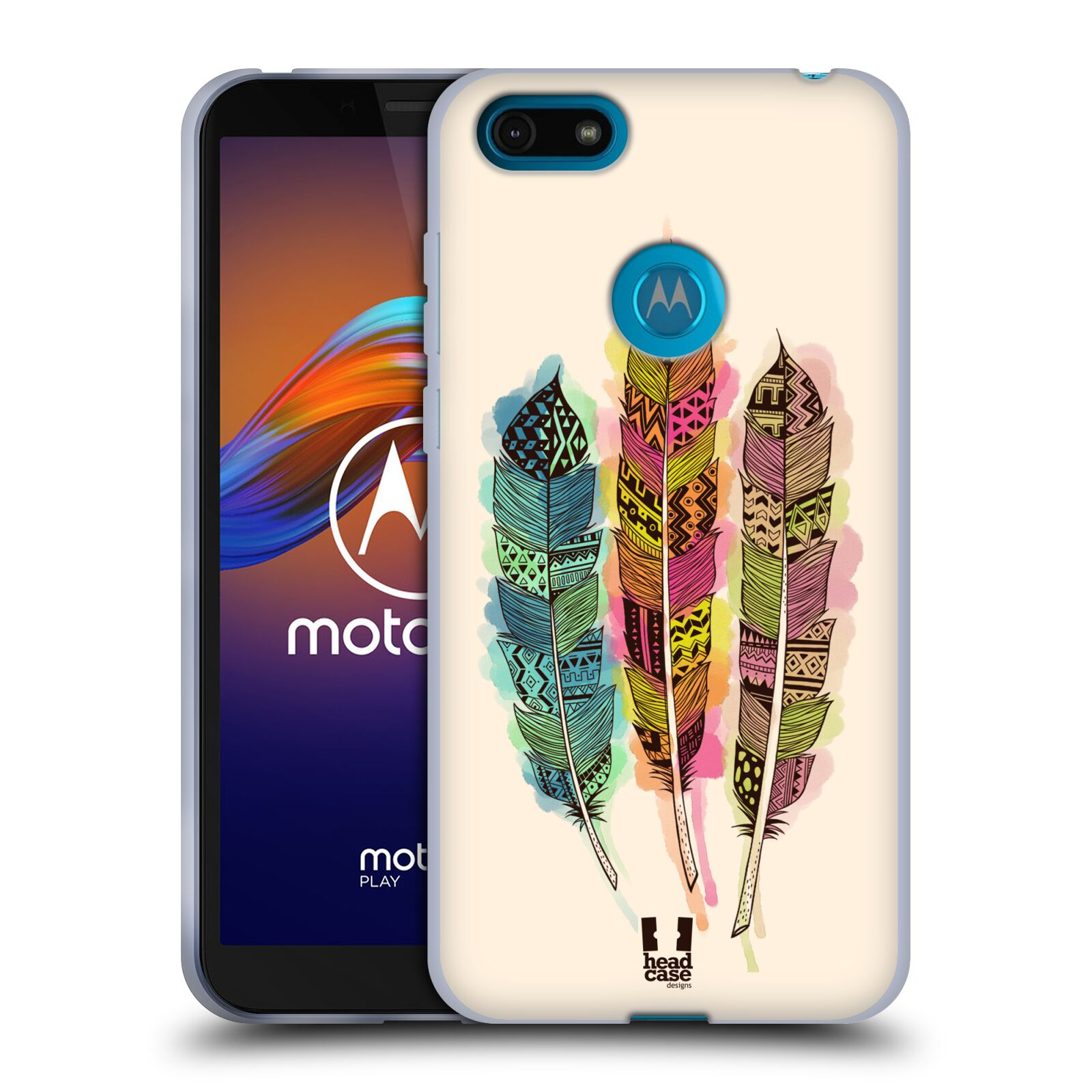 Silikonové pouzdro na mobil Motorola Moto E6 Play - Head Case - AZTEC PÍRKA SPLASH