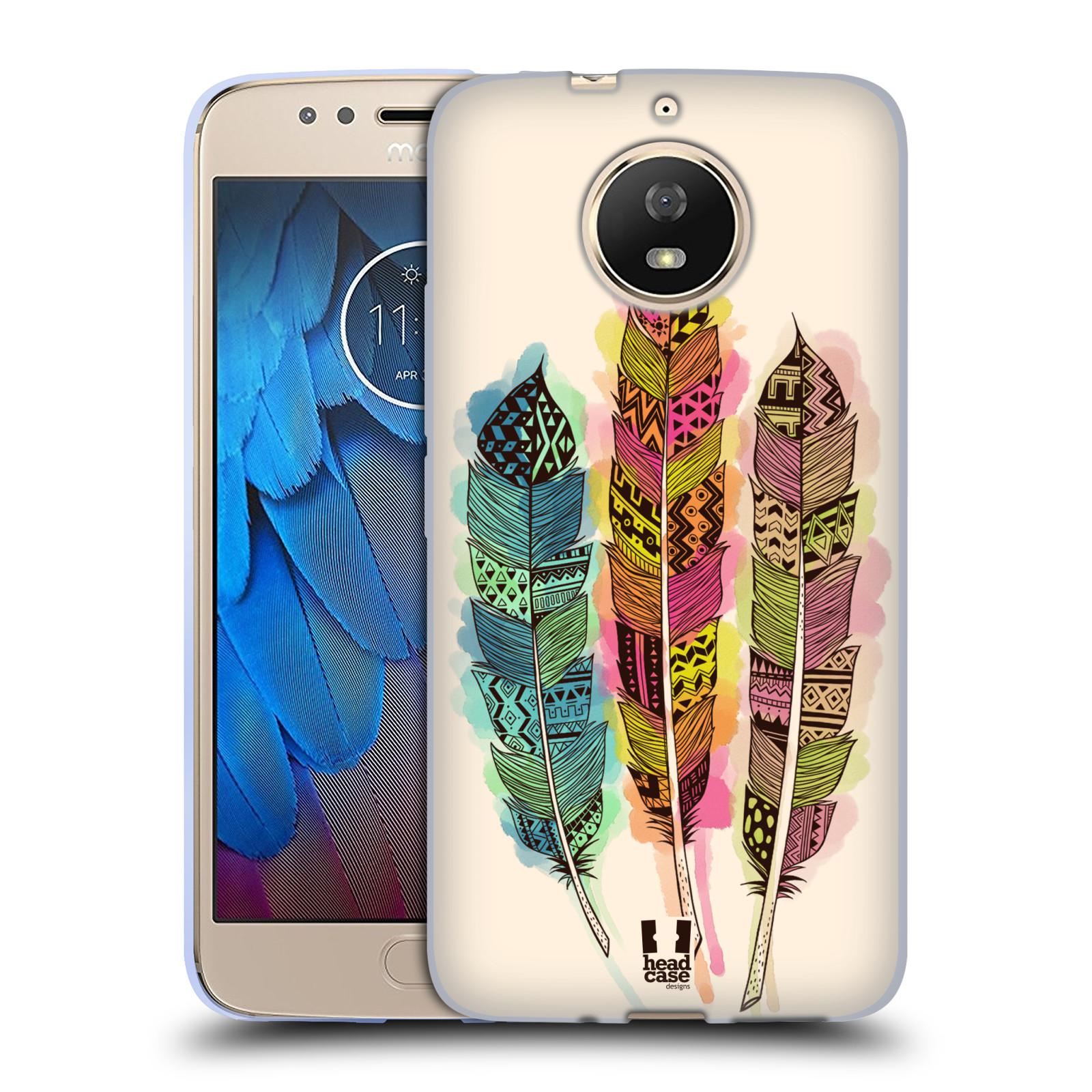 Silikonové pouzdro na mobil Lenovo Moto G5s - Head Case - AZTEC PÍRKA SPLASH