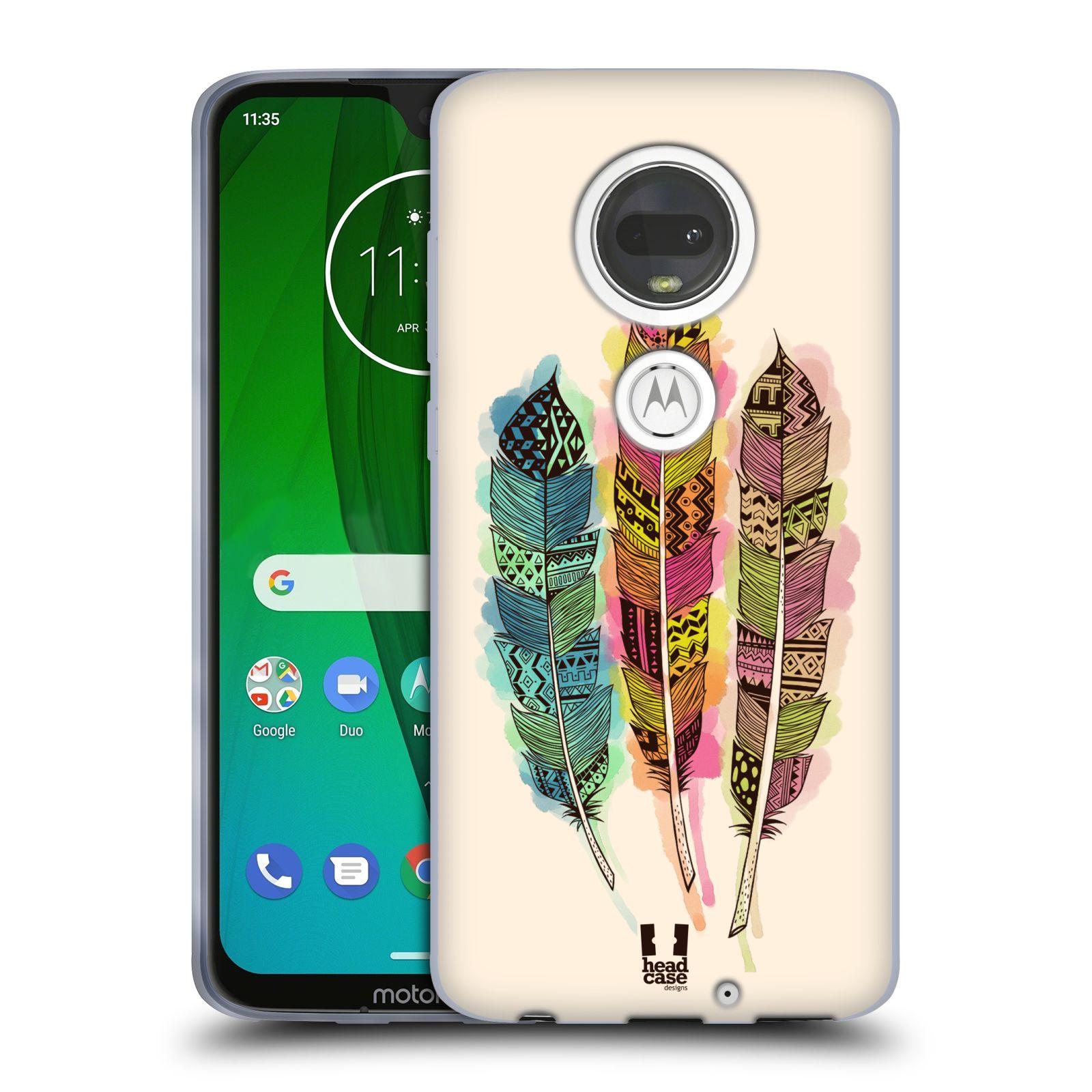 Silikonové pouzdro na mobil Motorola Moto G7 - Head Case - AZTEC PÍRKA SPLASH
