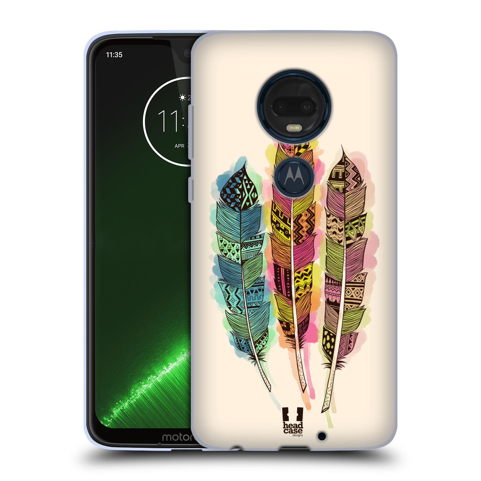 Silikonové pouzdro na mobil Motorola Moto G7 Plus - Head Case - AZTEC PÍRKA SPLASH