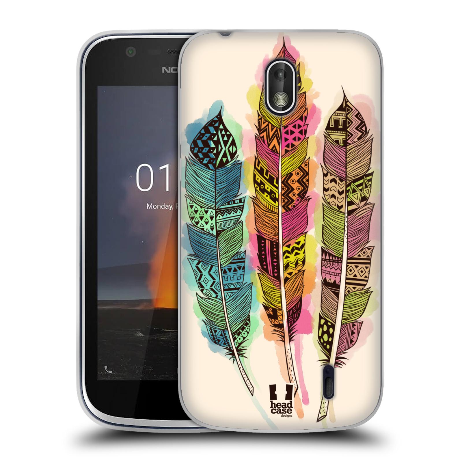 Silikonové pouzdro na mobil Nokia 1 - Head Case - AZTEC PÍRKA SPLASH