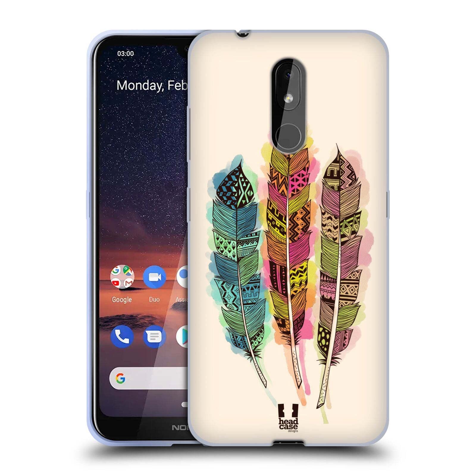 Silikonové pouzdro na mobil Nokia 3.2 - Head Case - AZTEC PÍRKA SPLASH