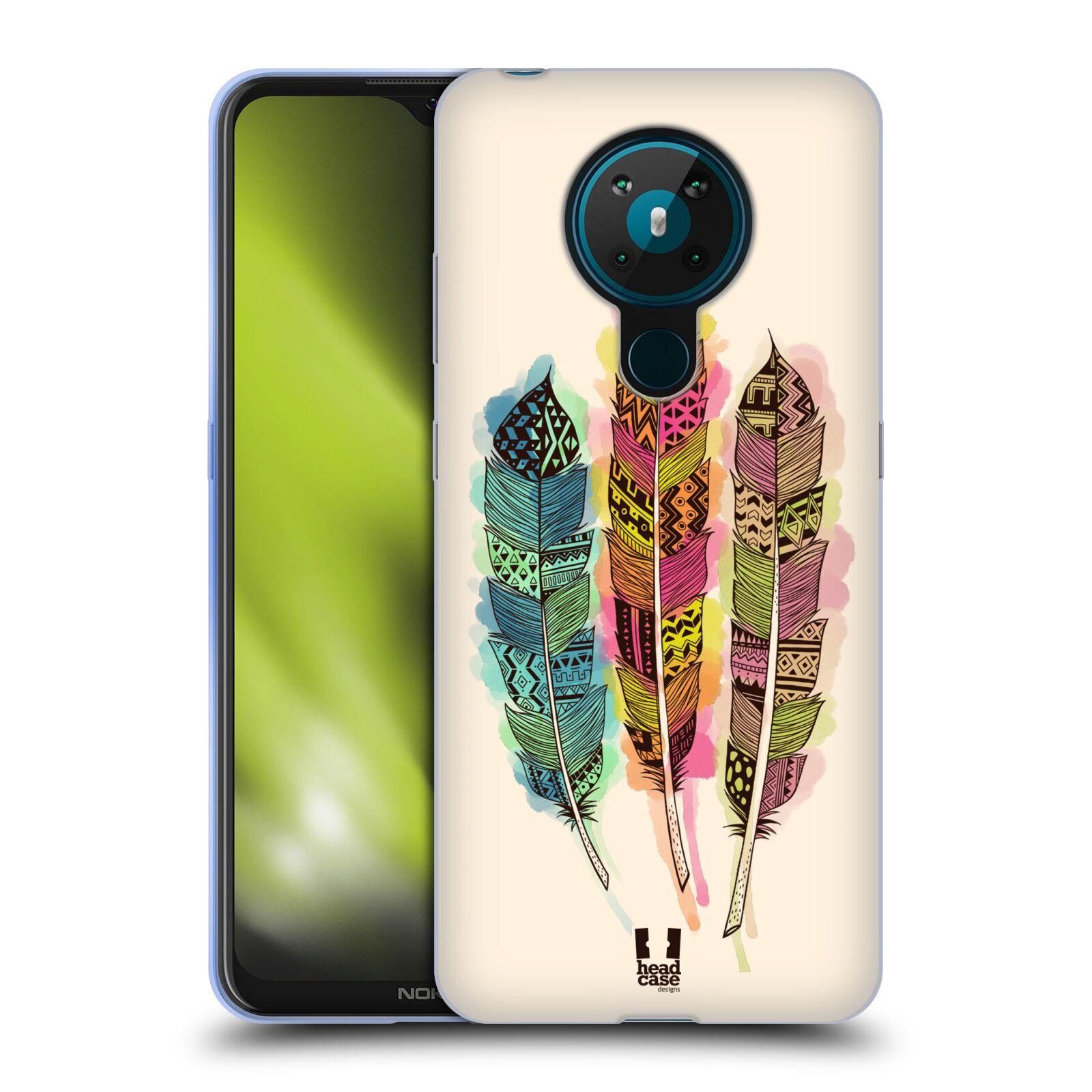Silikonové pouzdro na mobil Nokia 5.3 - Head Case - AZTEC PÍRKA SPLASH