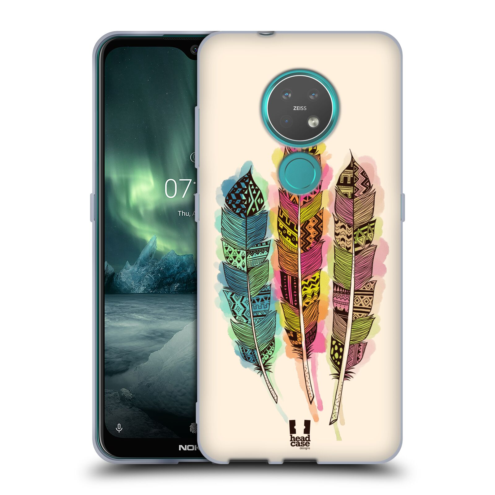 Silikonové pouzdro na mobil Nokia 7.2 - Head Case - AZTEC PÍRKA SPLASH