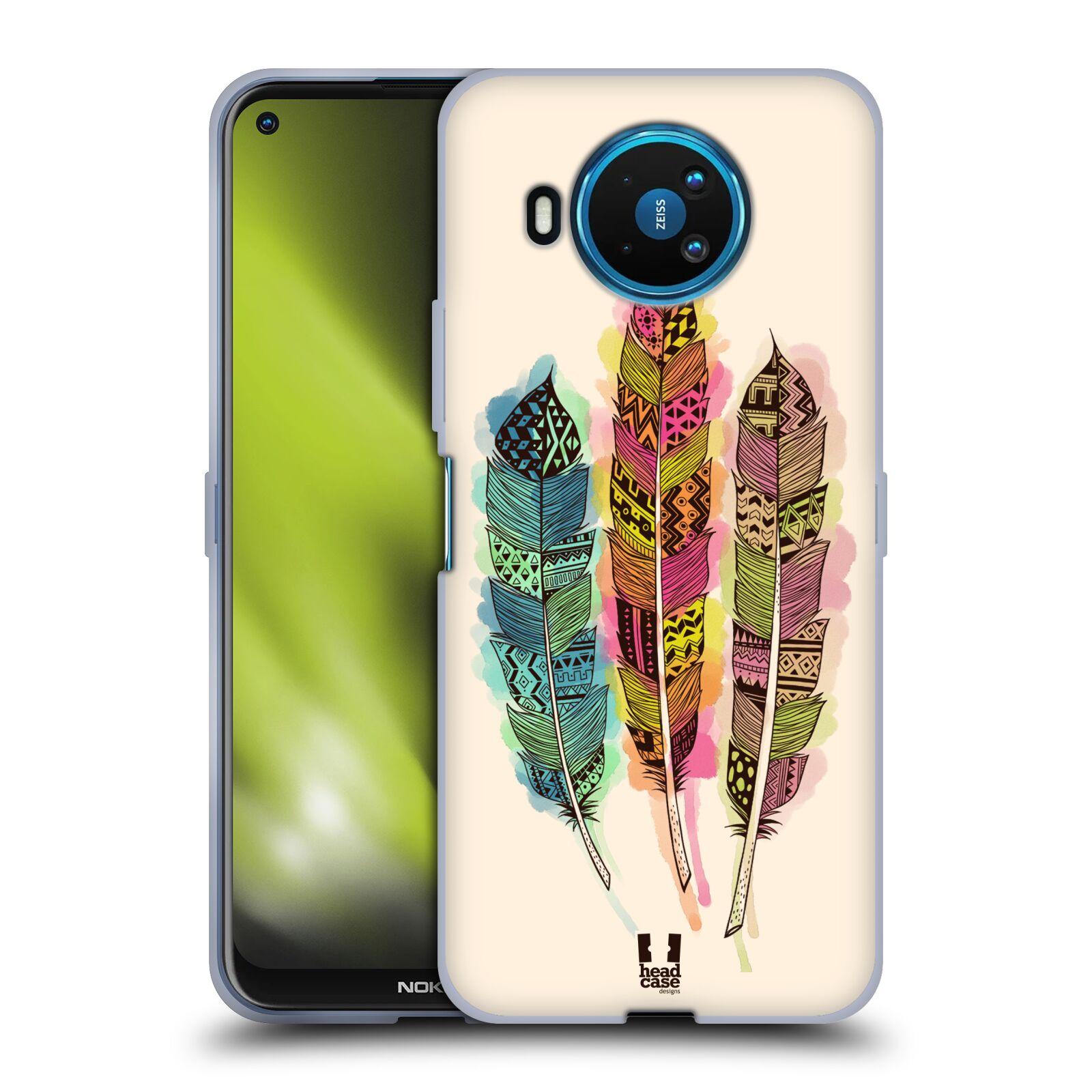 Silikonové pouzdro na mobil Nokia 8.3 5G - Head Case - AZTEC PÍRKA SPLASH