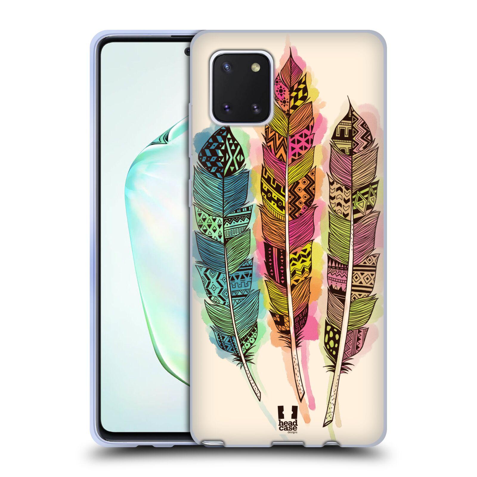Silikonové pouzdro na mobil Samsung Galaxy Note 10 Lite - Head Case - AZTEC PÍRKA SPLASH