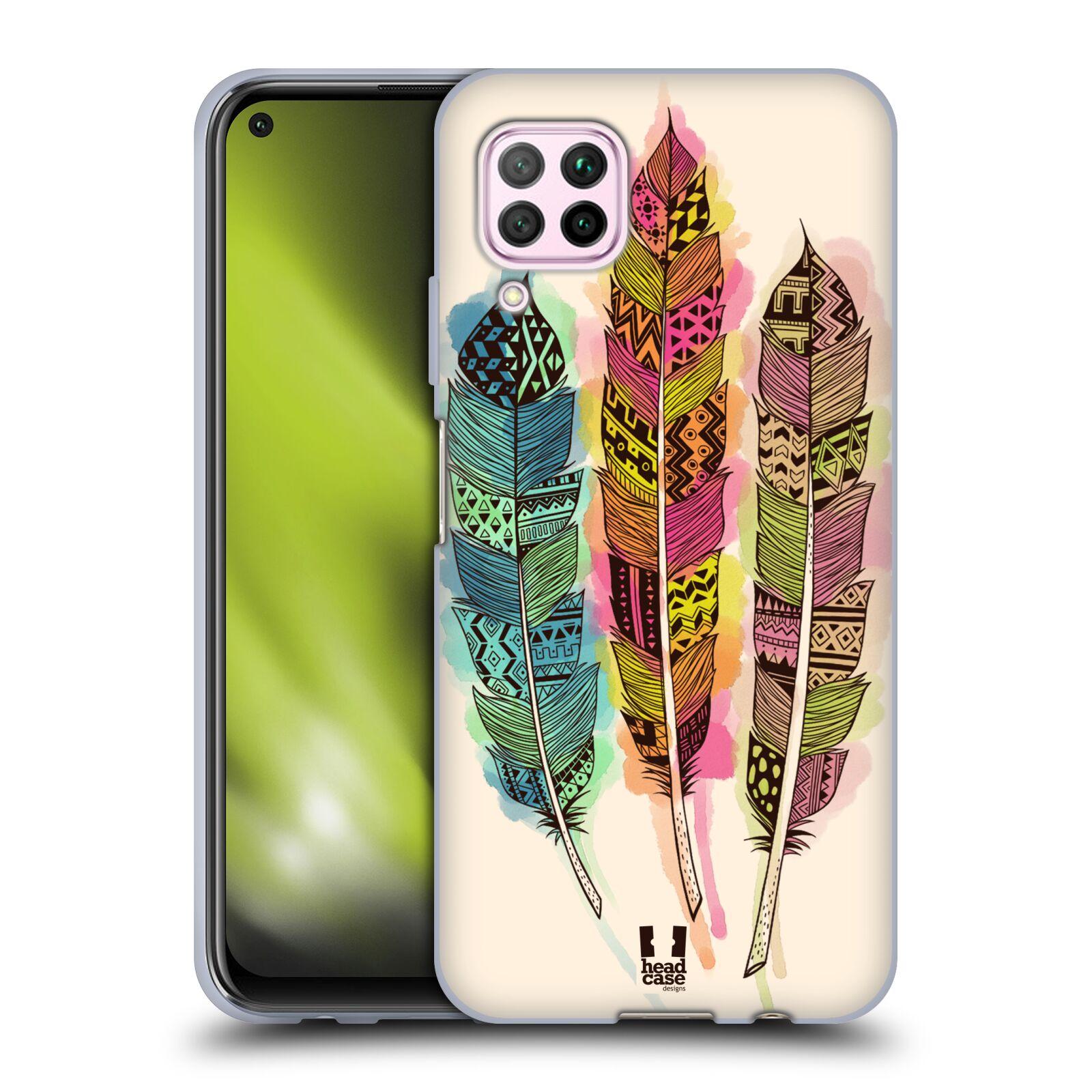 Silikonové pouzdro na mobil Huawei P40 Lite - Head Case - AZTEC PÍRKA SPLASH