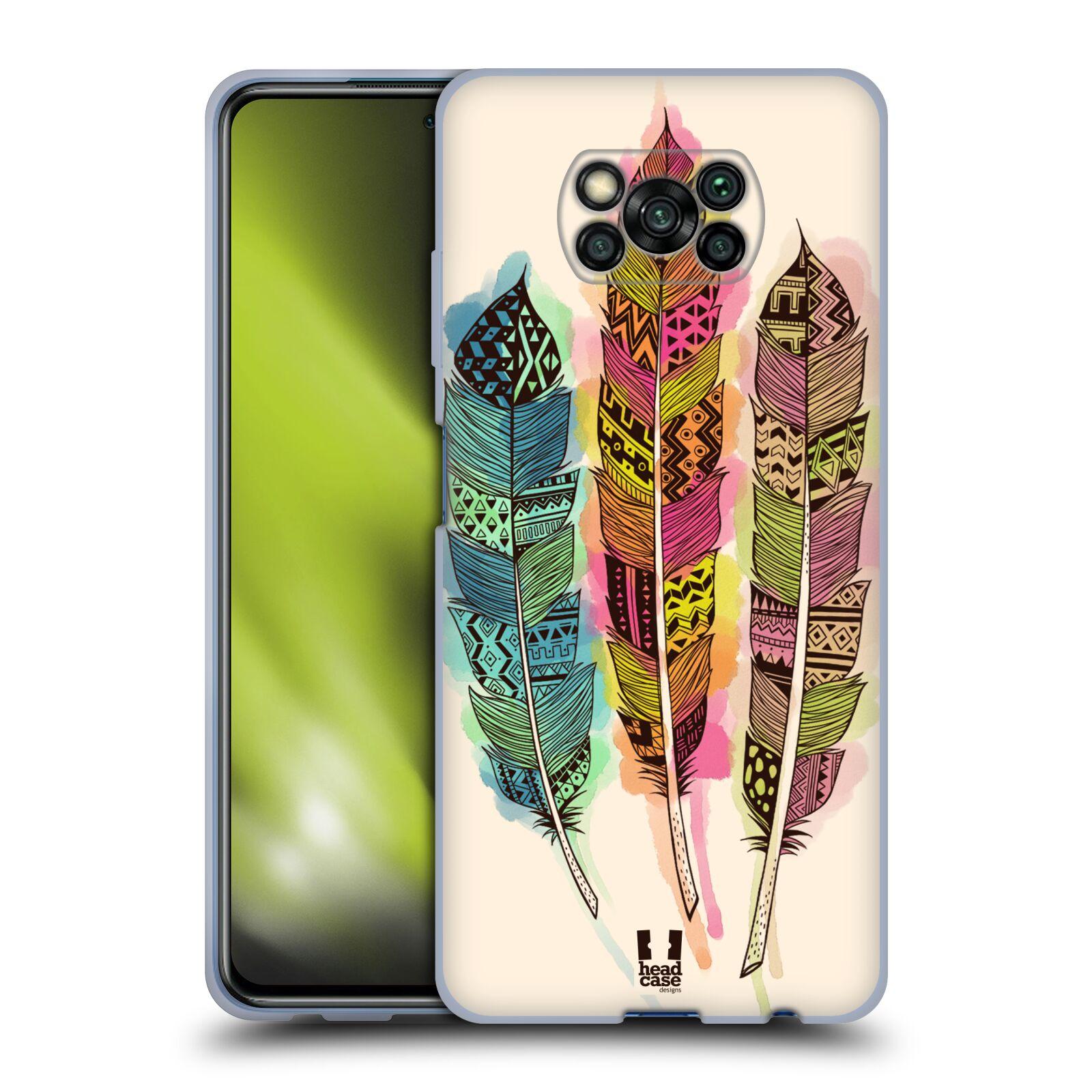 Silikonové pouzdro na mobil Xiaomi Poco X3 NFC - Head Case - AZTEC PÍRKA SPLASH