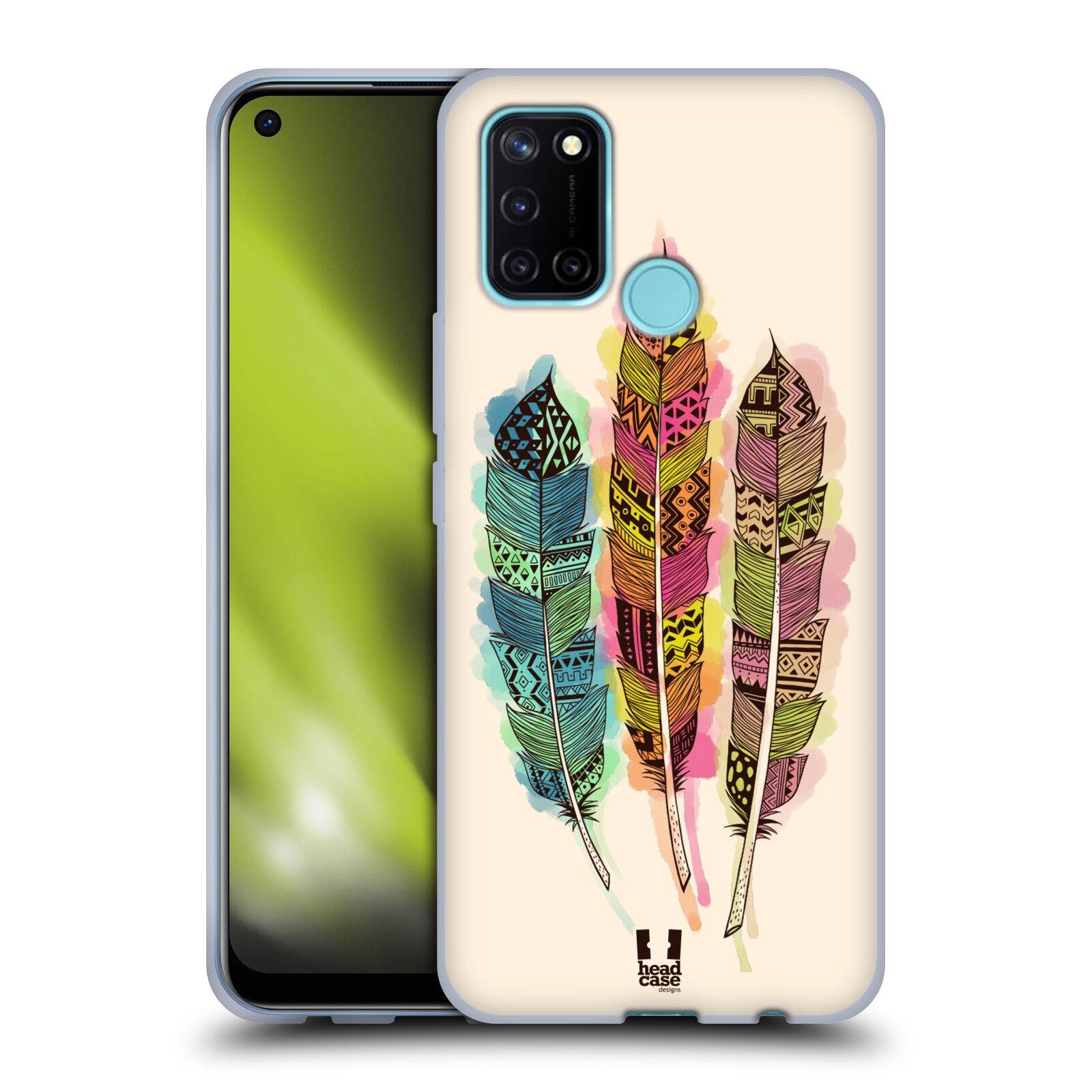 Silikonové pouzdro na mobil Realme 7i - Head Case - AZTEC PÍRKA SPLASH