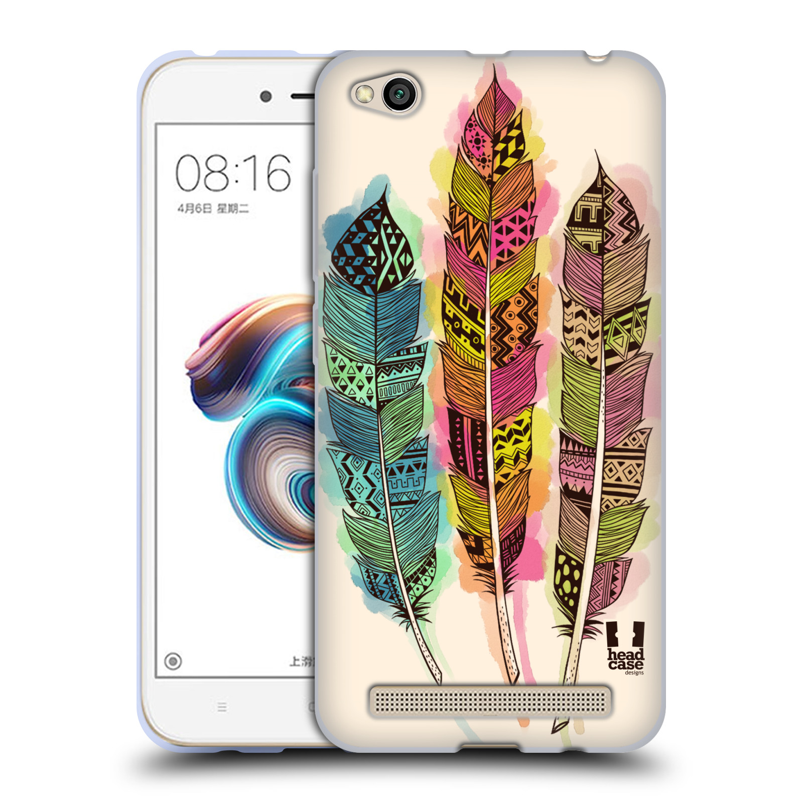 Silikonové pouzdro na mobil Xiaomi Redmi 5A - Head Case - AZTEC PÍRKA SPLASH