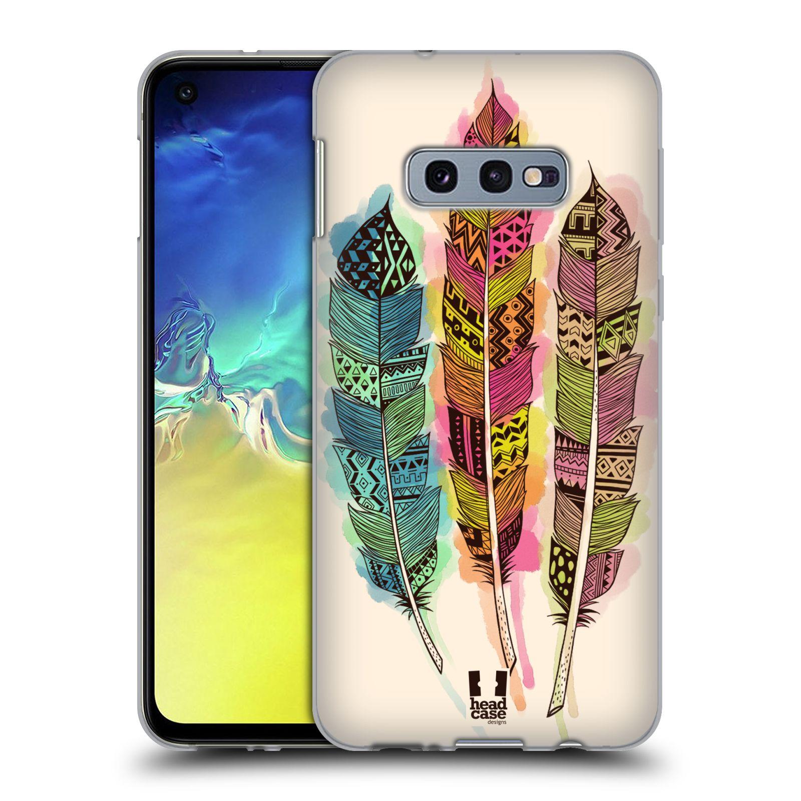 Silikonové pouzdro na mobil Samsung Galaxy S10e - Head Case - AZTEC PÍRKA SPLASH