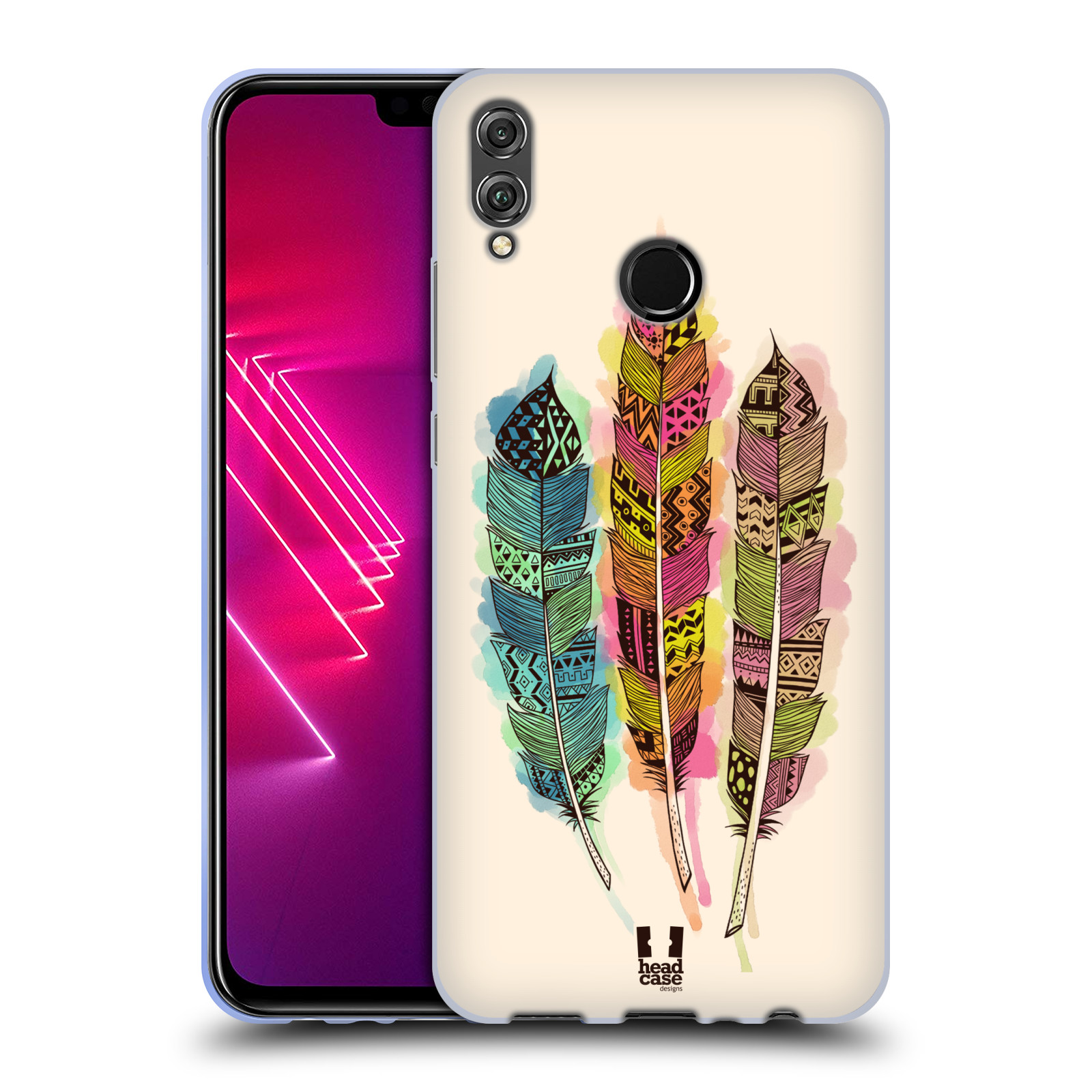 Silikonové pouzdro na mobil Honor View 10 Lite - Head Case - AZTEC PÍRKA SPLASH