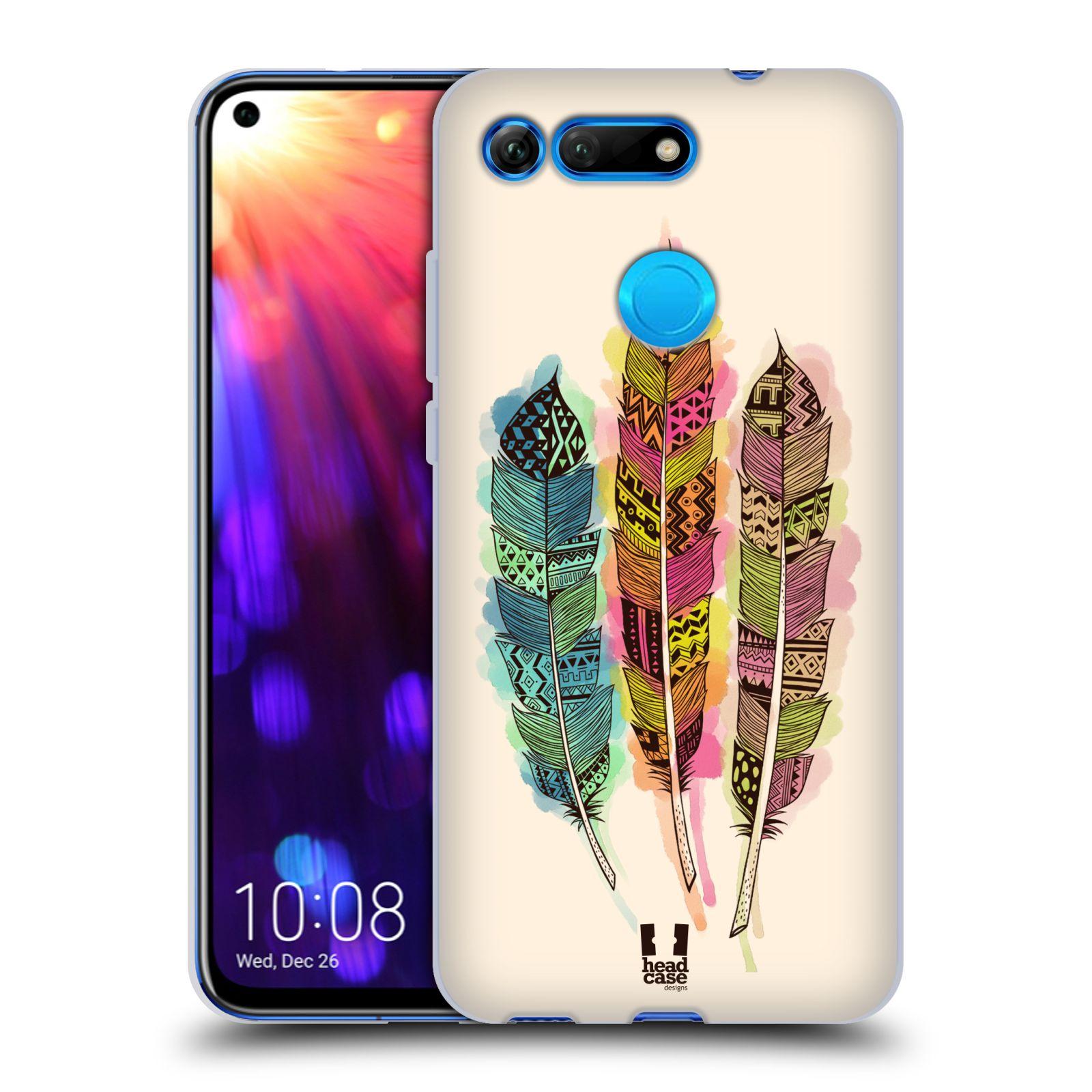 Silikonové pouzdro na mobil Honor View 20 - Head Case - AZTEC PÍRKA SPLASH