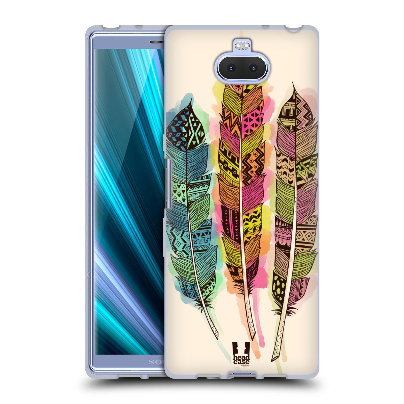 Silikonové pouzdro na mobil Sony Xperia 10 - Head Case - AZTEC PÍRKA SPLASH