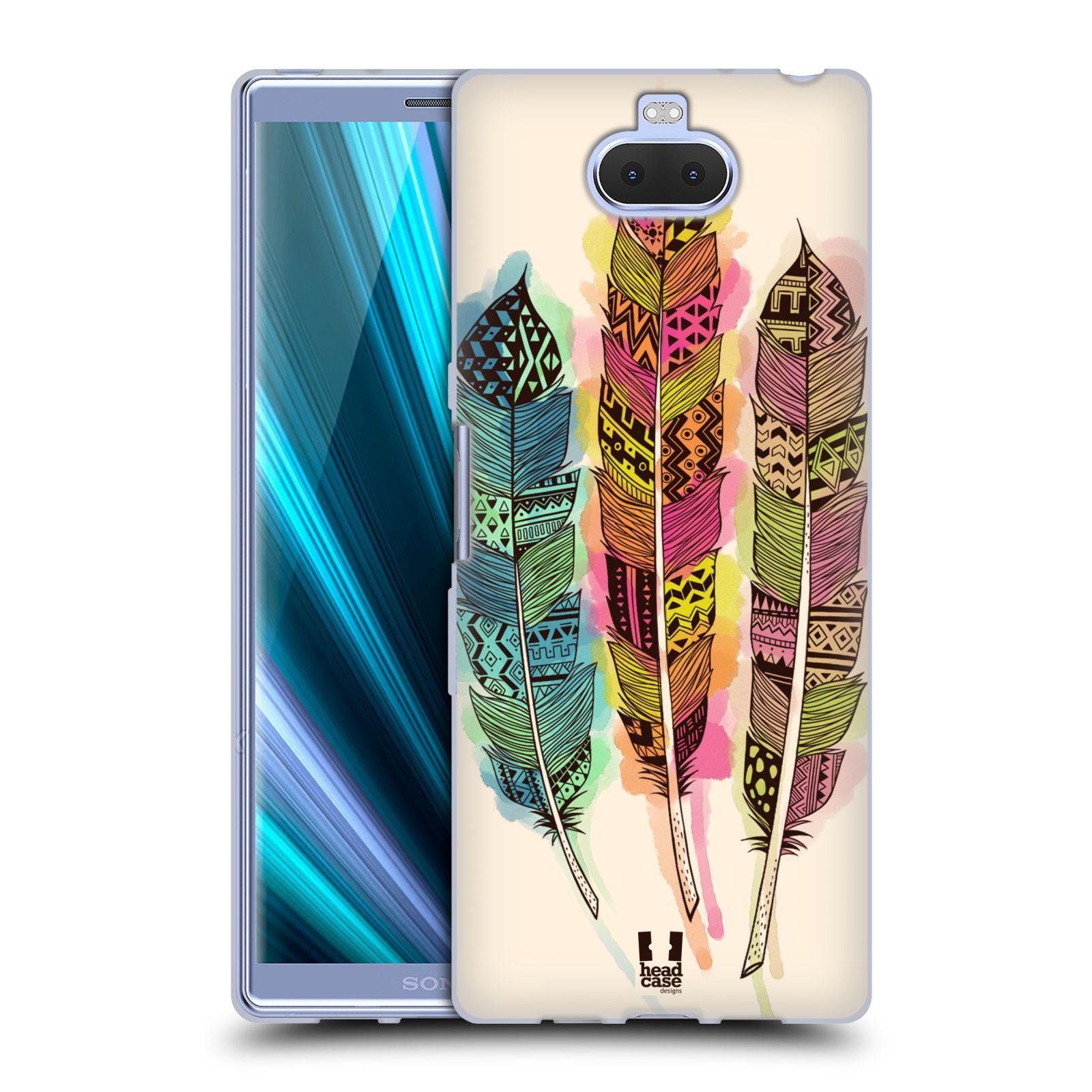Silikonové pouzdro na mobil Sony Xperia 10 Plus - Head Case - AZTEC PÍRKA SPLASH