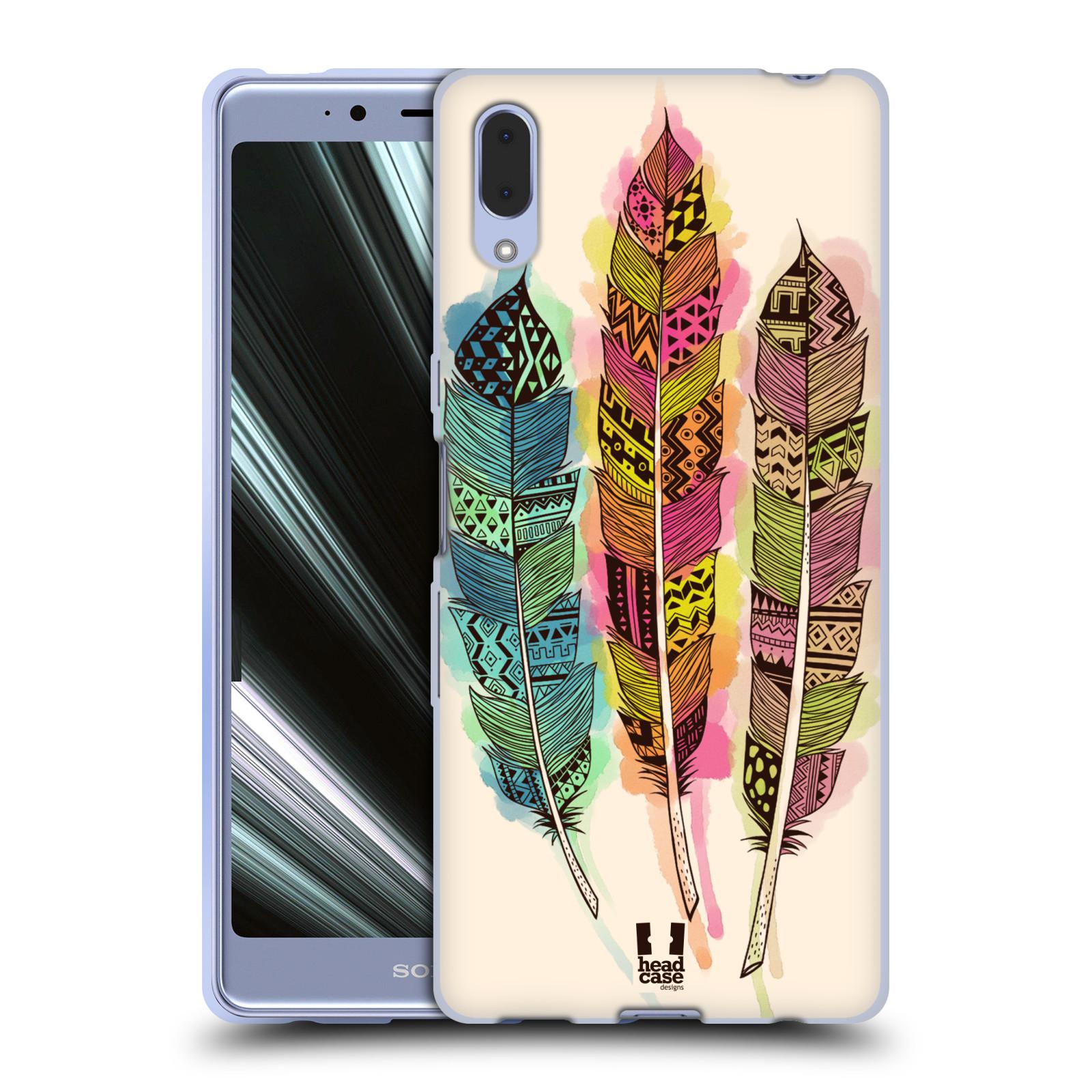 Silikonové pouzdro na mobil Sony Xperia L3 - Head Case - AZTEC PÍRKA SPLASH