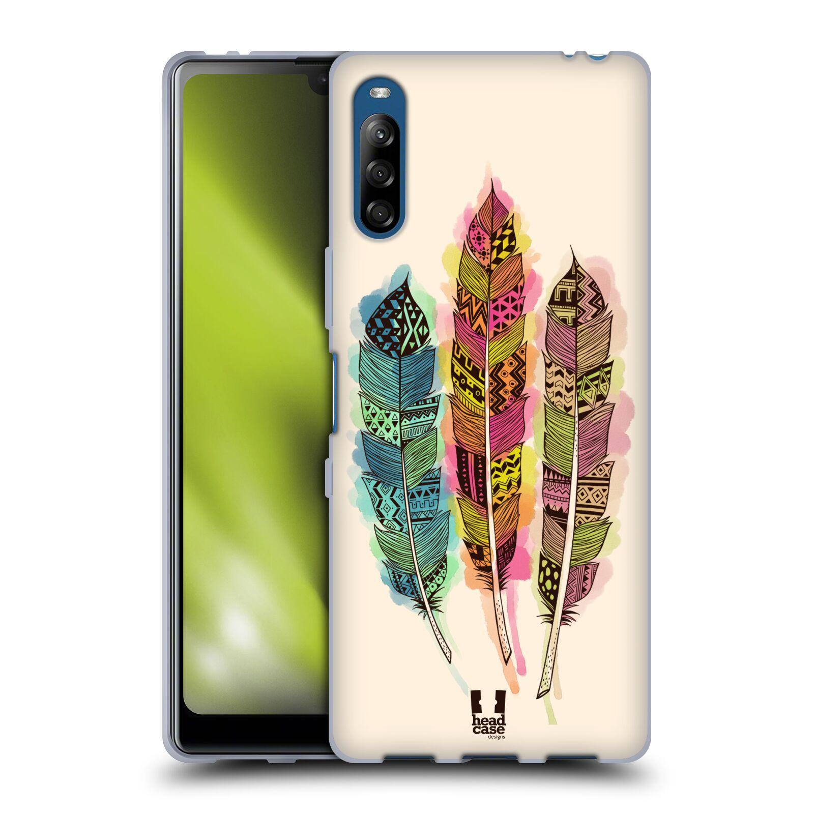 Silikonové pouzdro na mobil Sony Xperia L4 - Head Case - AZTEC PÍRKA SPLASH