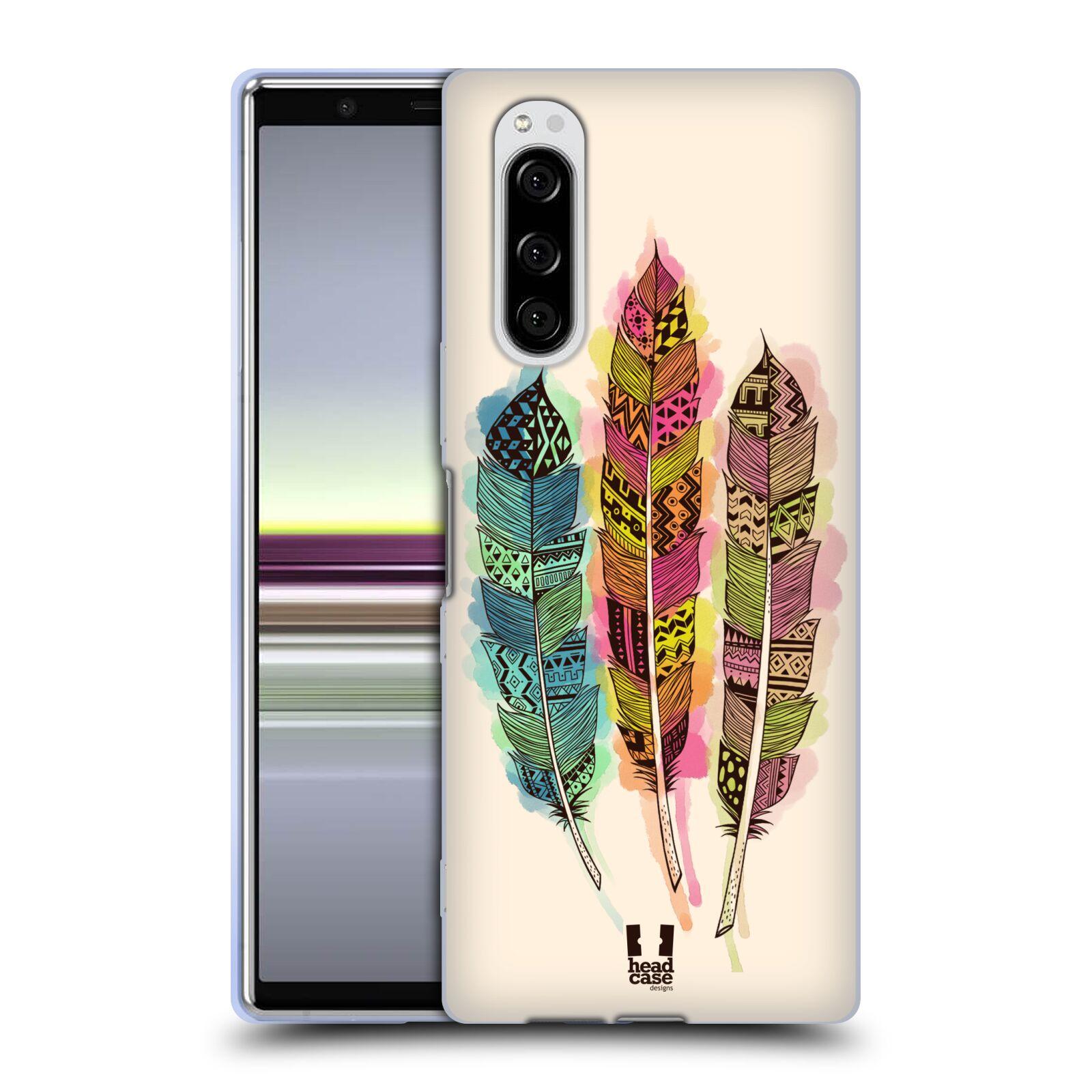 Silikonové pouzdro na mobil Sony Xperia 5 - Head Case - AZTEC PÍRKA SPLASH