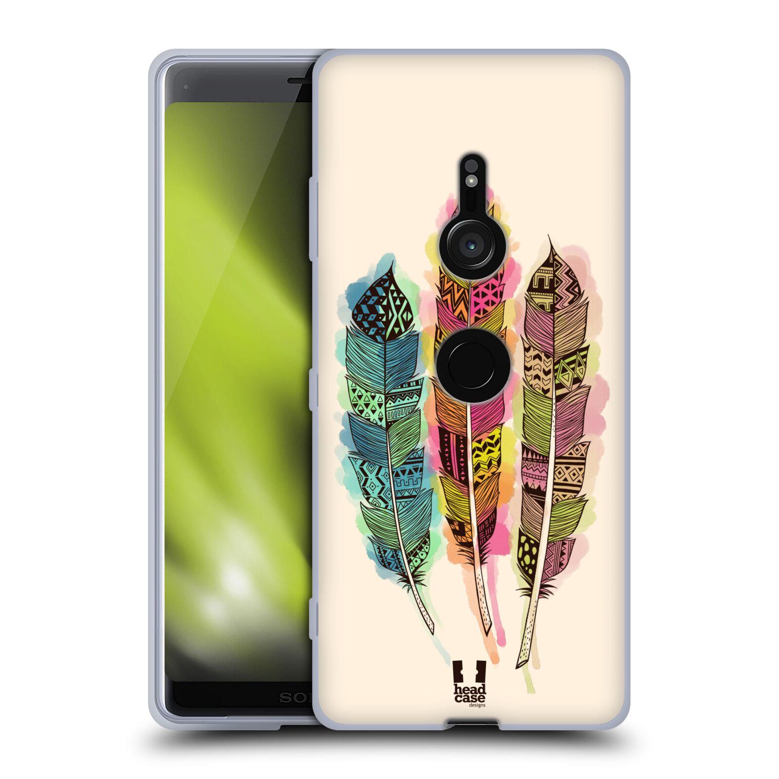 Silikonové pouzdro na mobil Sony Xperia XZ3 - Head Case - AZTEC PÍRKA SPLASH