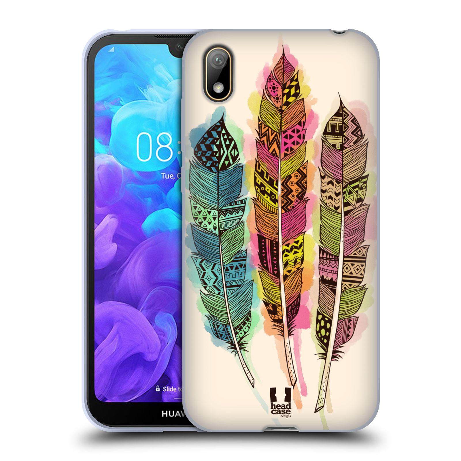 Silikonové pouzdro na mobil Huawei Y5 (2019) - Head Case - AZTEC PÍRKA SPLASH