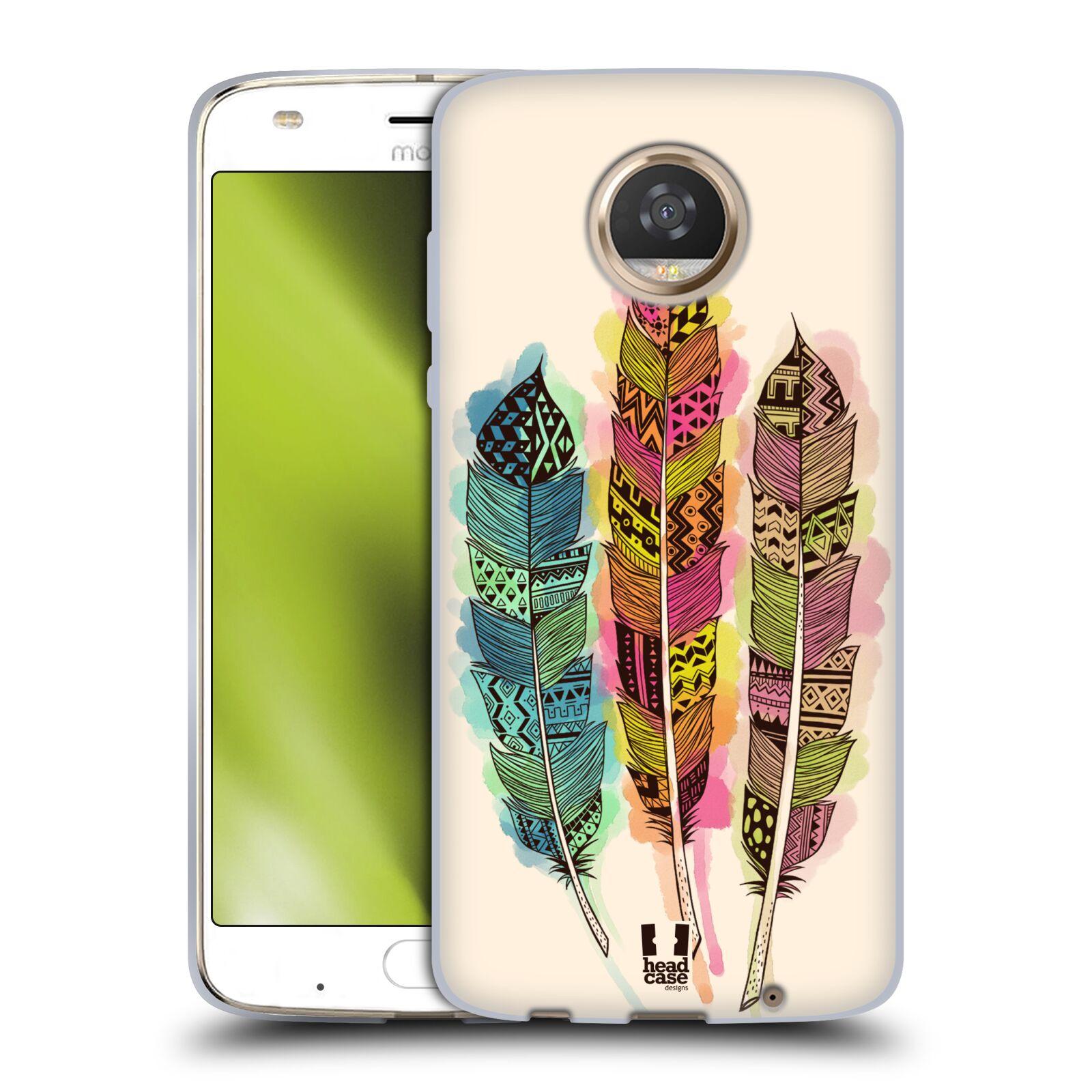 Silikonové pouzdro na mobil Lenovo Moto Z2 Play - Head Case - AZTEC PÍRKA SPLASH