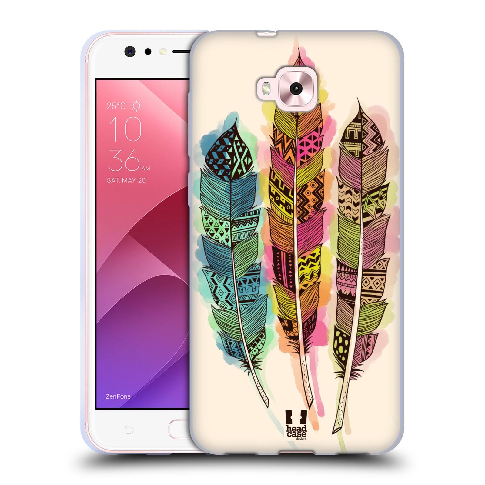 Silikonové pouzdro na mobil Asus Zenfone 4 Selfie ZD553KL - Head Case - AZTEC PÍRKA SPLASH
