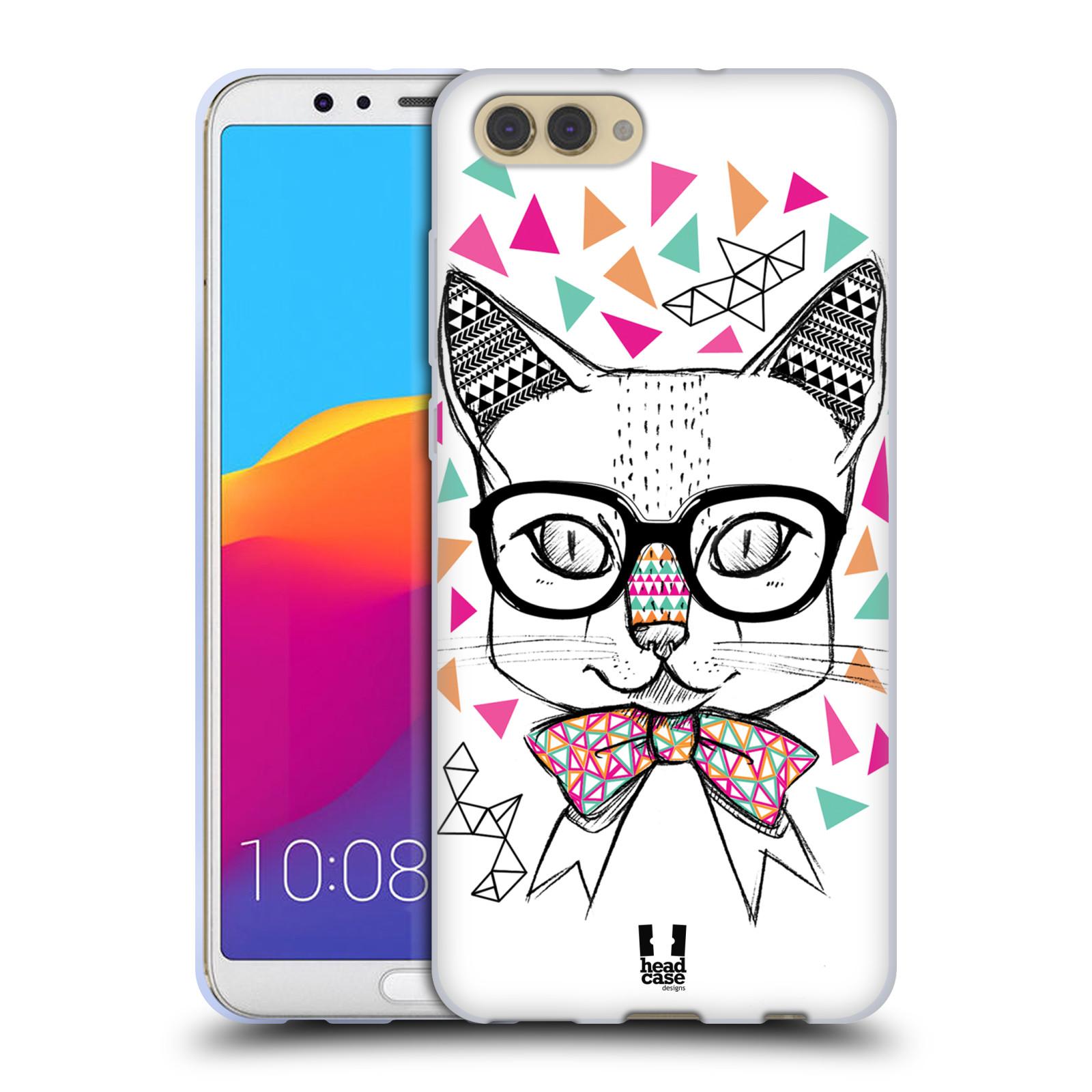 Silikonové pouzdro na mobil Honor View 10 - Head Case - AZTEC KOČIČKA