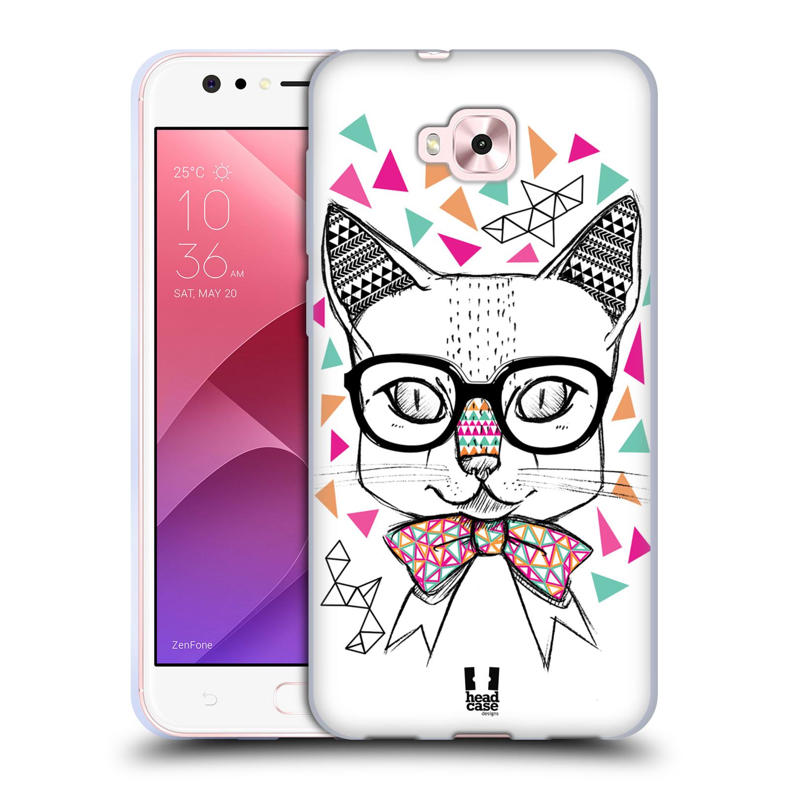 Silikonové pouzdro na mobil Asus Zenfone 4 Selfie ZD553KL - Head Case - AZTEC KOČIČKA